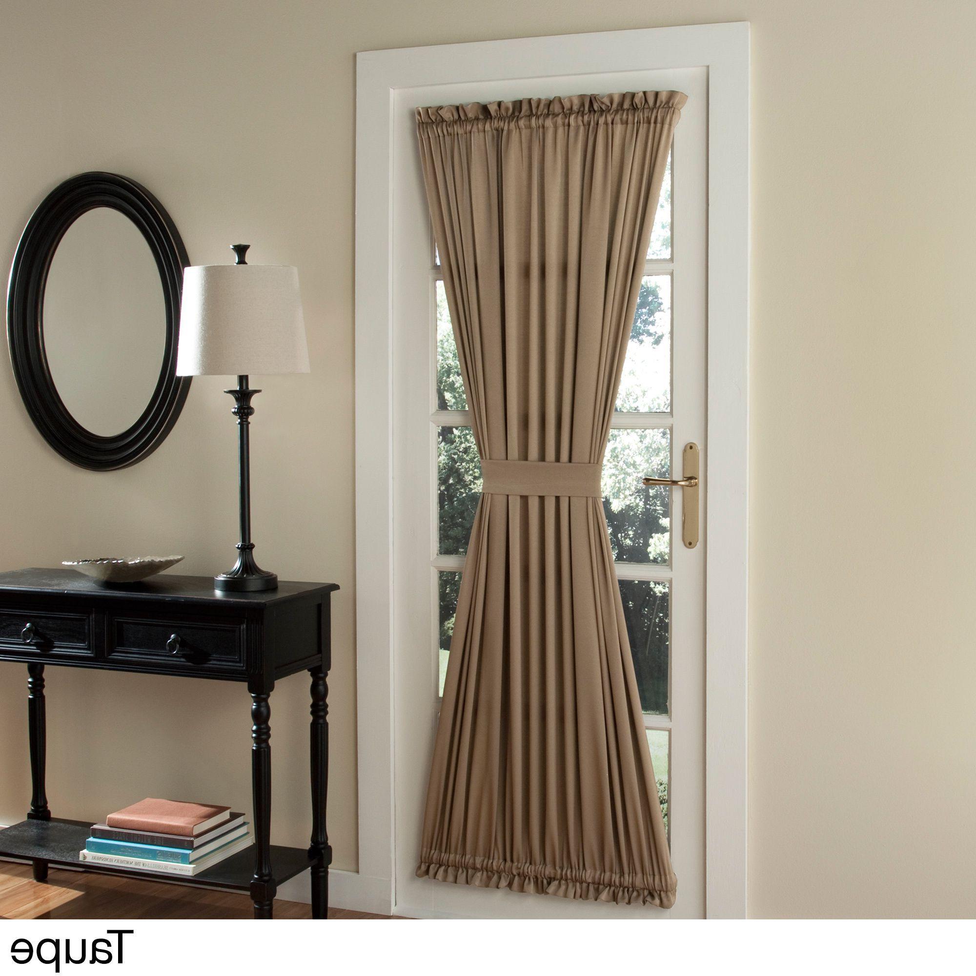 Nantahala Rod Pocket Room Darkening Patio Door Single Curtain Panels Within Trendy Porch & Den Nantahala Patio Door Window Curtain Panel In (View 8 of 20)