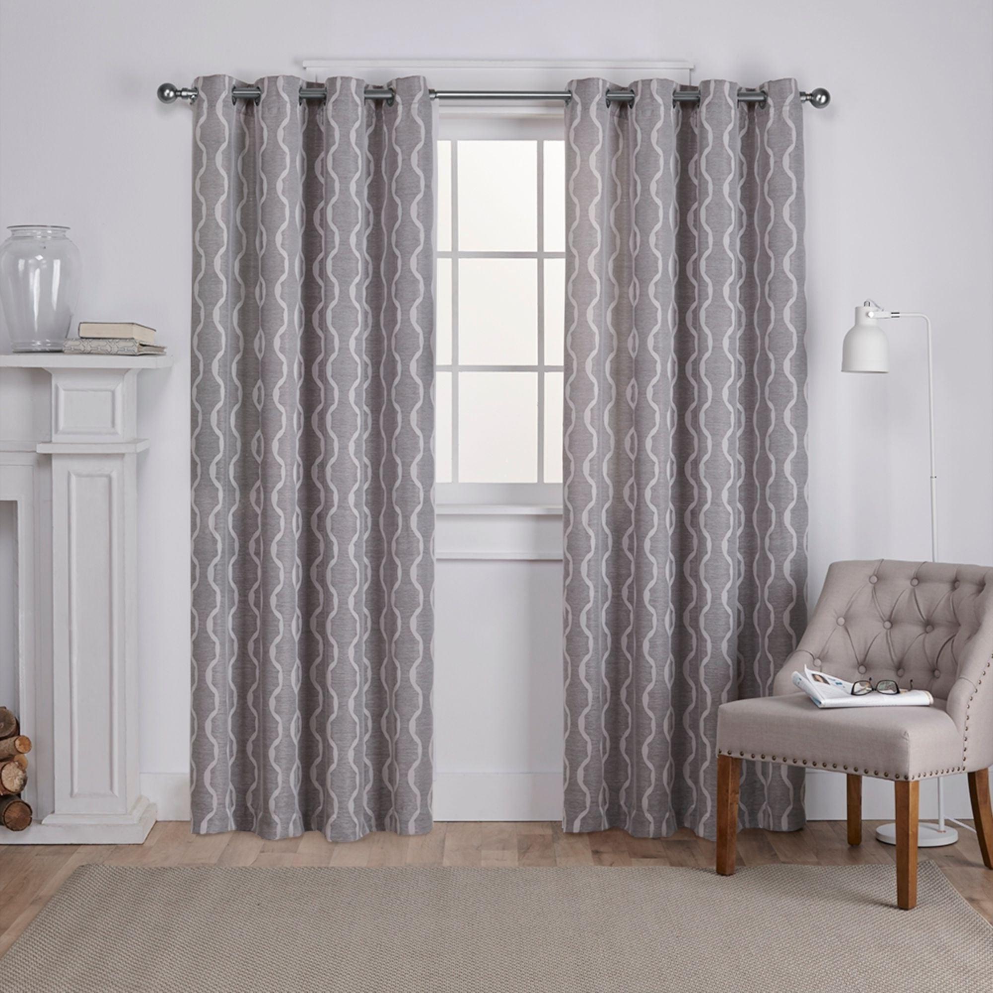 Newest Ati Home Baroque Linen Grommet Top Curtain Panel Pair Throughout Baroque Linen Grommet Top Curtain Panel Pairs (View 3 of 20)