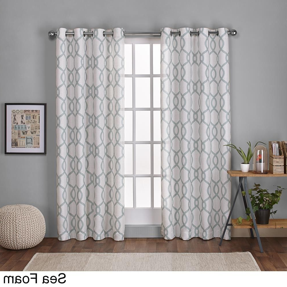 Newest Ati Home Kochi Linen Blend Grommet Top Curtain Panel Pair Within Kochi Linen Blend Window Grommet Top Curtain Panel Pairs (View 6 of 20)