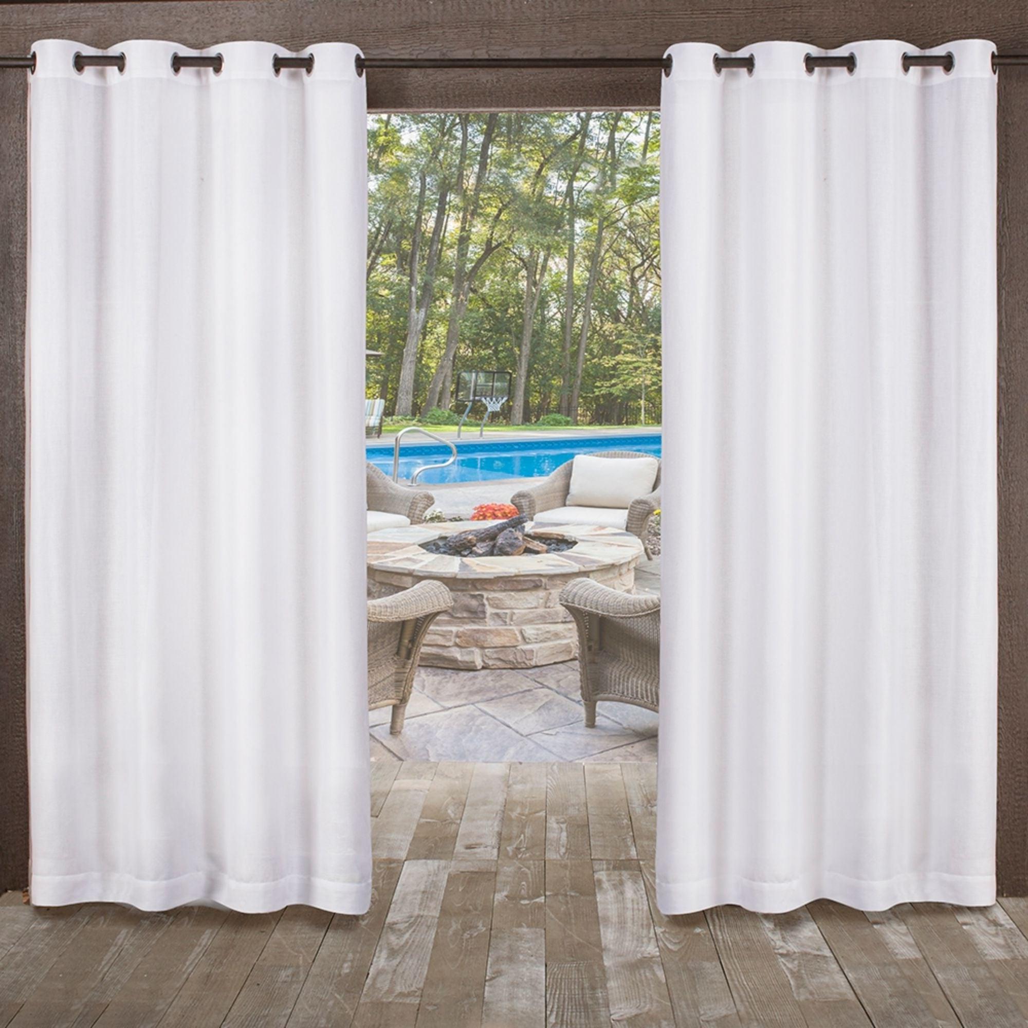 Newest Ati Home Miami Indoor/outdoor Grommet Top Curtain Panel Pair Within Delano Indoor/outdoor Grommet Top Curtain Panel Pairs (View 4 of 20)