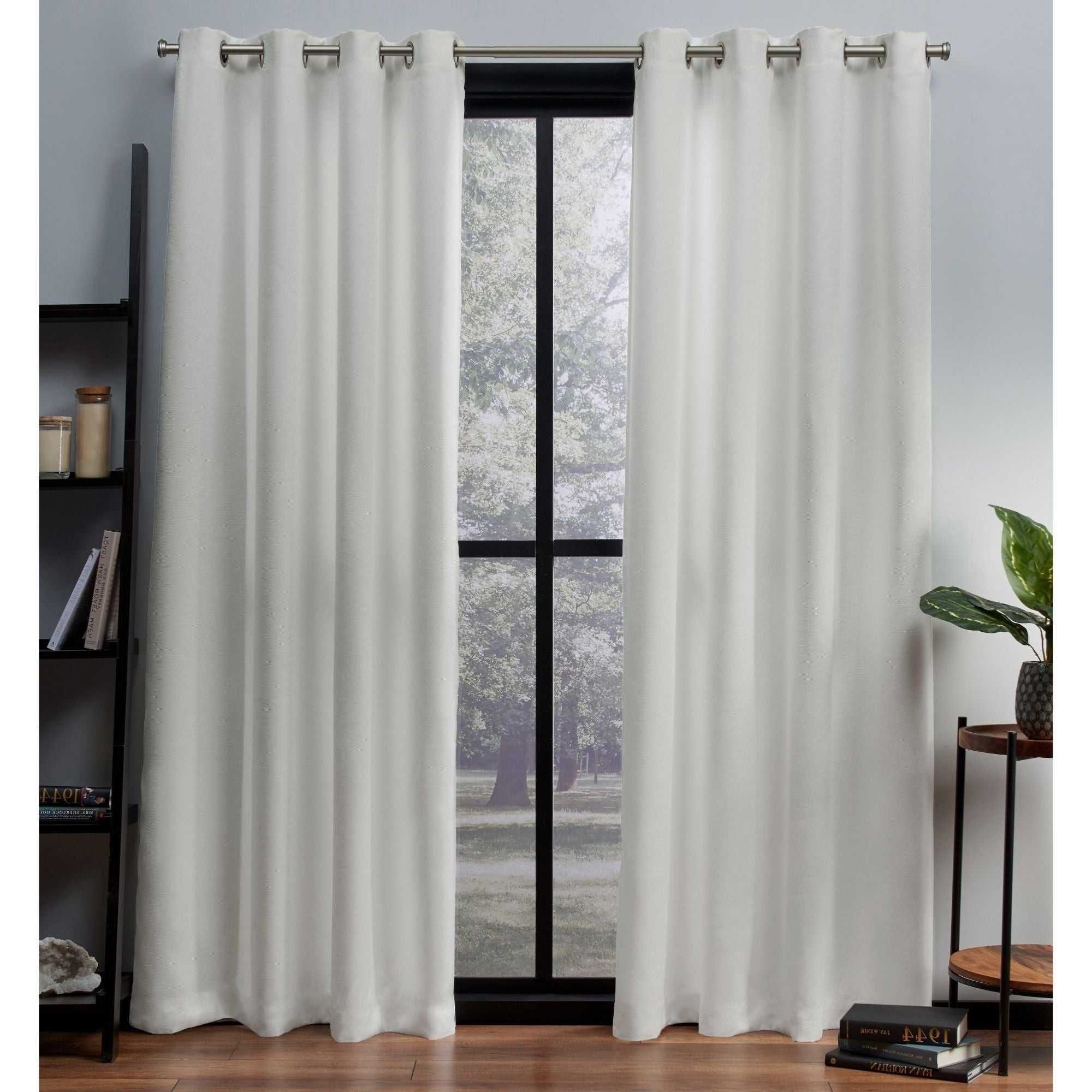 Newest Ati Home Oxford Sateen Woven Blackout Grommet Top Curtain Panel Pair In Oxford Sateen Woven Blackout Grommet Top Curtain Panel Pairs (View 9 of 20)