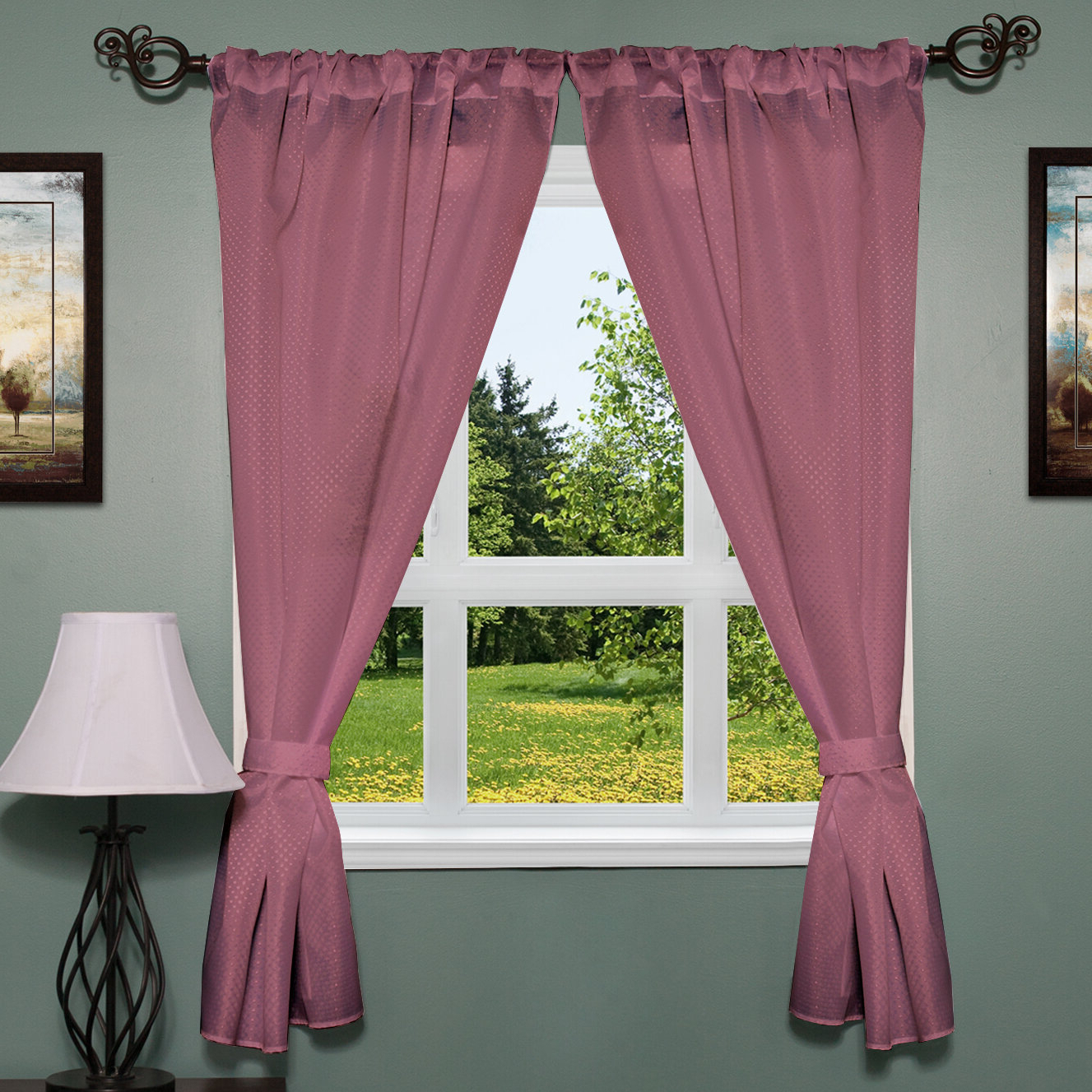 Newest Dallastown Elegant Subtle Fabric Curtain Panel Intended For Classic Hotel Quality Water Resistant Fabric Curtains Set With Tiebacks (View 15 of 20)