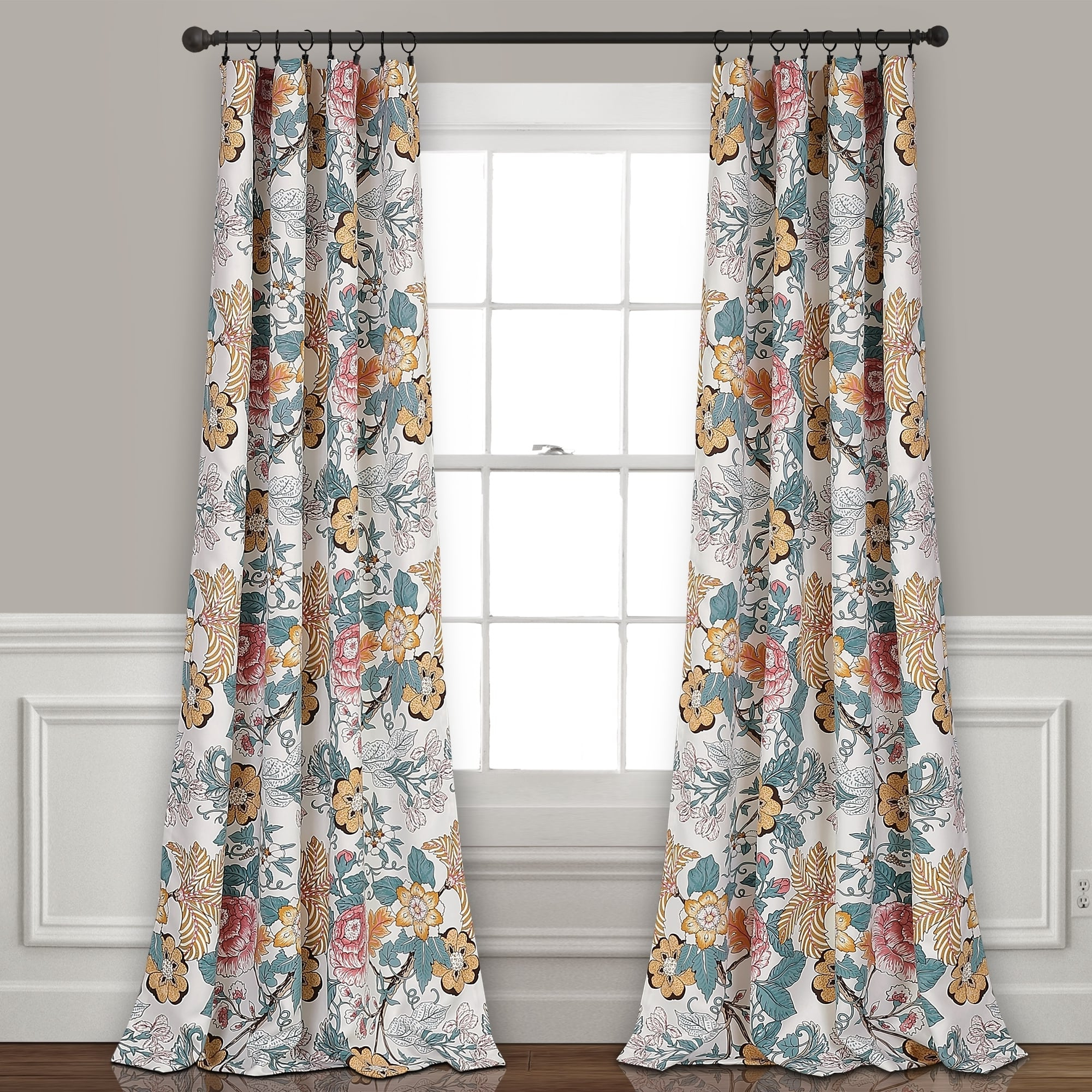 Newest Dolores Room Darkening Floral Curtain Panel Pairs With The Curated Nomad Chorro Room Darkening Curtain Panel Pair (View 17 of 20)