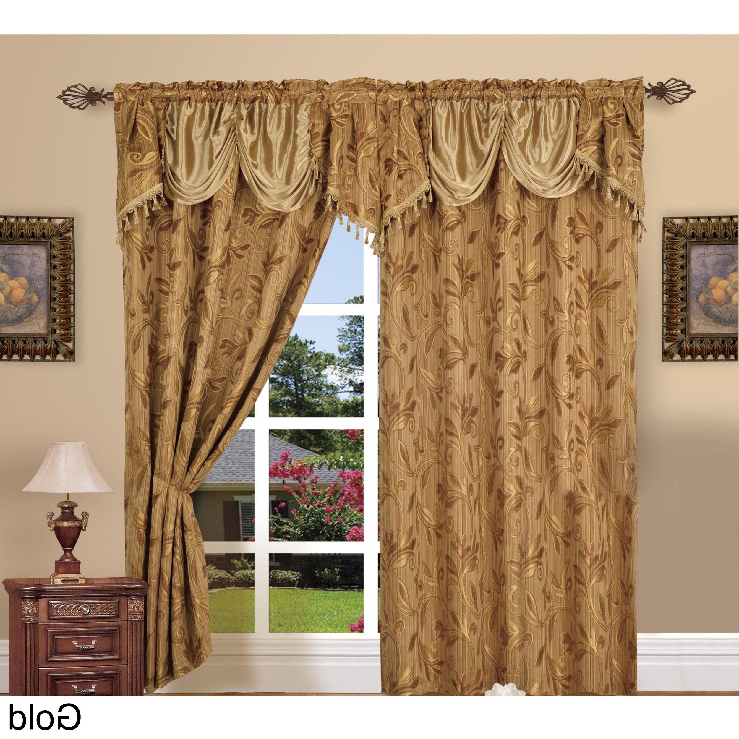 Newest Elegant Comfort Luxury Penelopie Jacquard Window Curtain Panel Pairs Intended For Elegant Comfort Luxury Jacquard Rod Pocket 54 Inch Window Curtain Panel Pair (View 4 of 20)