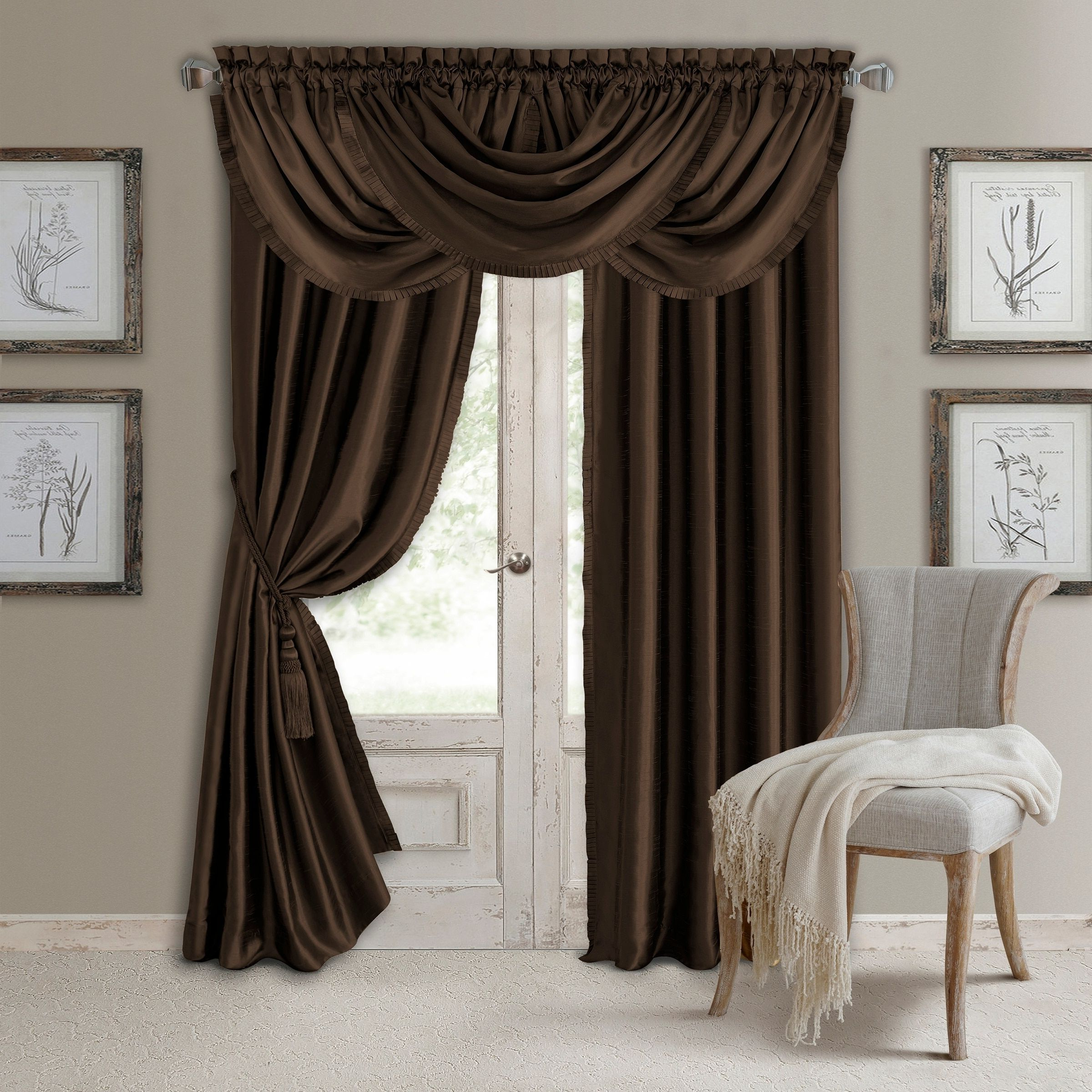 "Newest Elrene Versailles Pleated Blackout Curtain Panel (52"" W X 95 For Elrene Versailles Pleated Blackout Curtain Panels (View 5 of 20)"