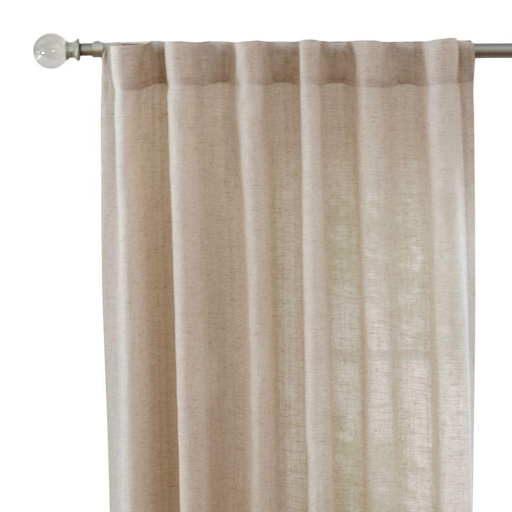 Newest Home Decorators Collection Faux Linen Light Filtering Window Panel In Taupe – 50 In. W X 108 In (View 18 of 20)