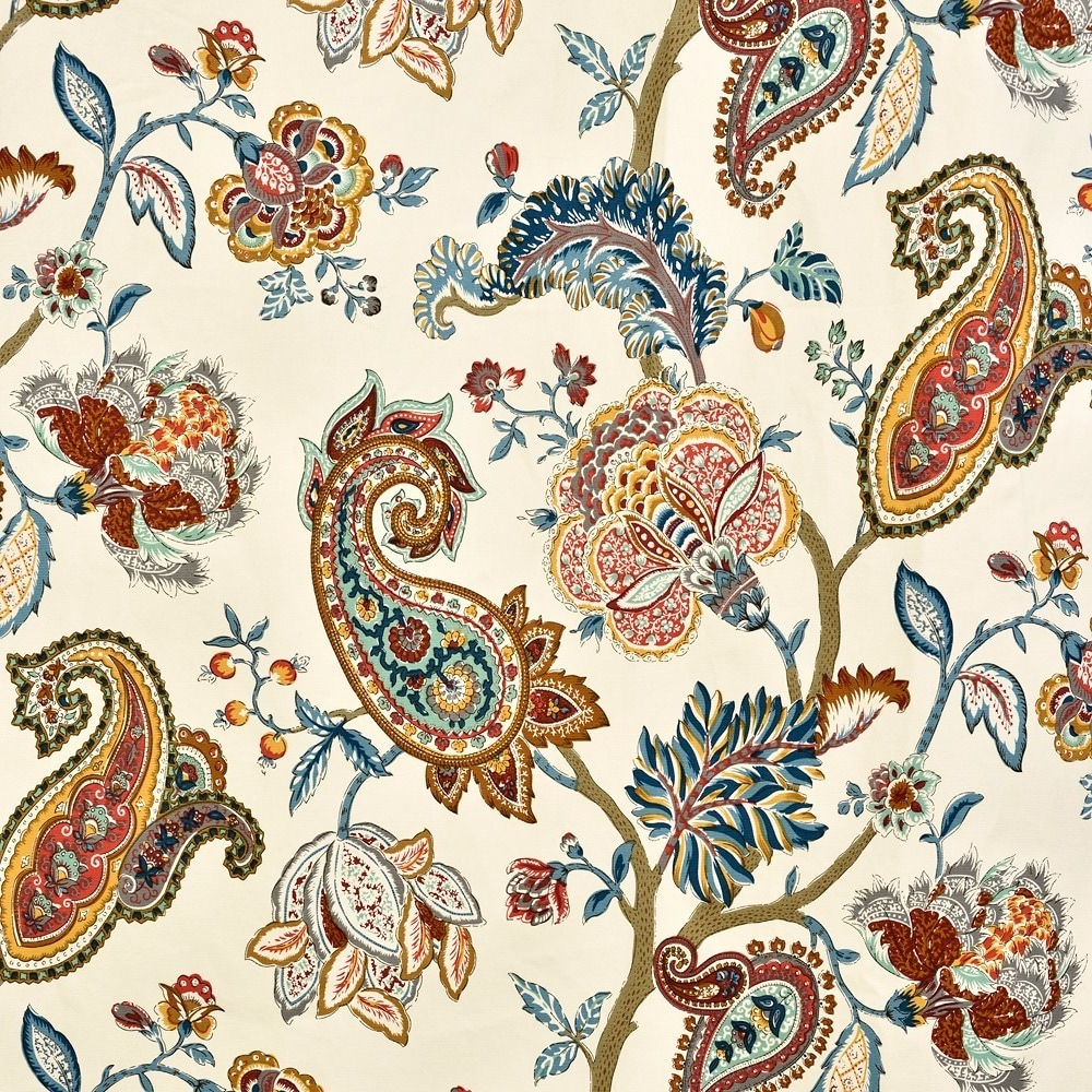 Newest Lambrequin Boho Paisley Cotton Curtain Panel Inside Lambrequin Boho Paisley Cotton Curtain Panels (View 15 of 20)