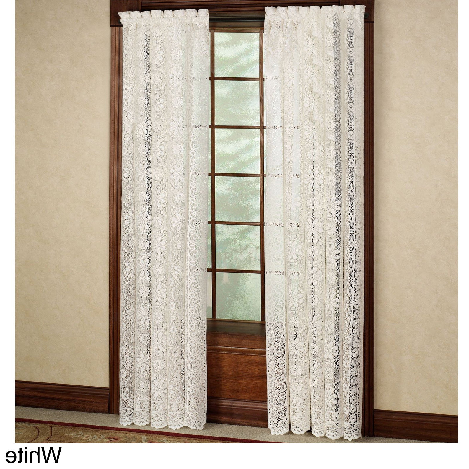 Featured Photo of Luxurious Old World Style Lace Window Curtain Panels