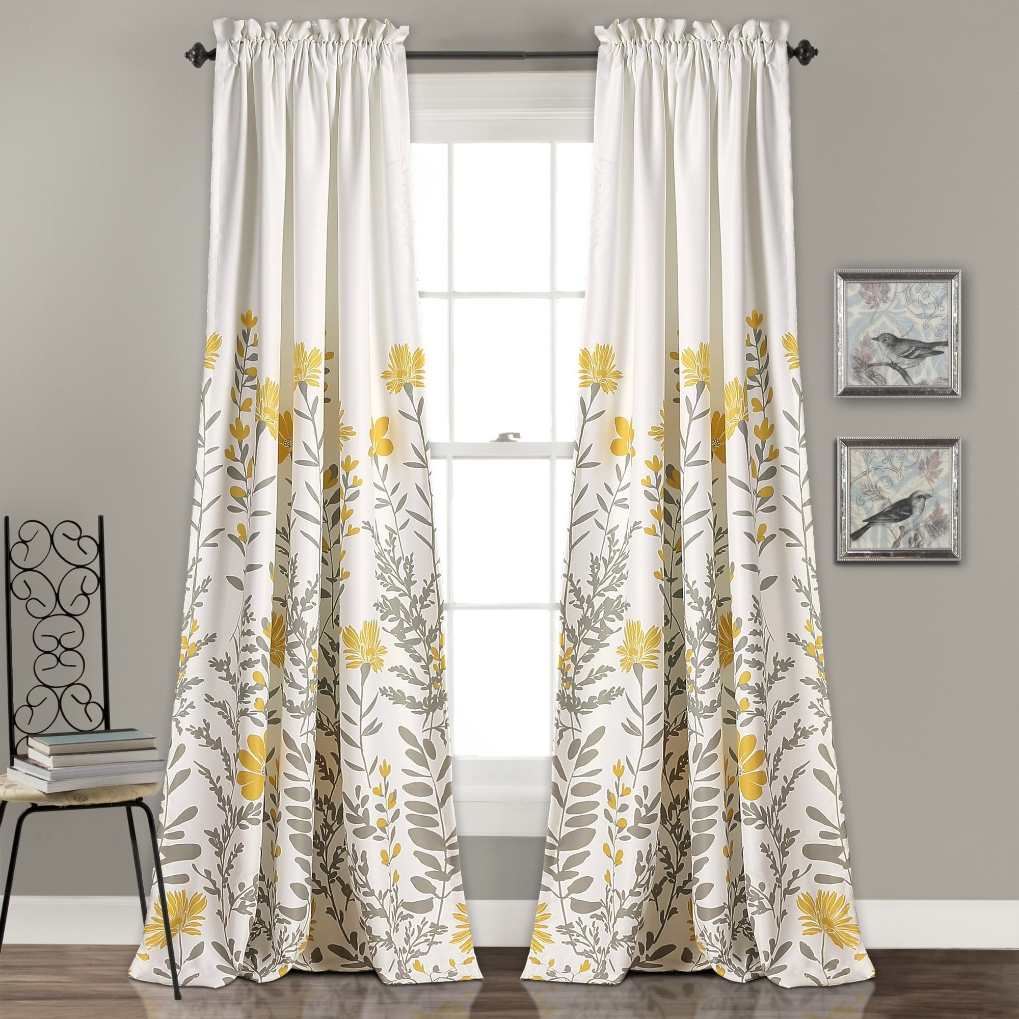 "Newest Maison Rouge Villon Room Darkening Curtain Panel Pair (84"" X Throughout Floral Pattern Room Darkening Window Curtain Panel Pairs (View 14 of 20)"