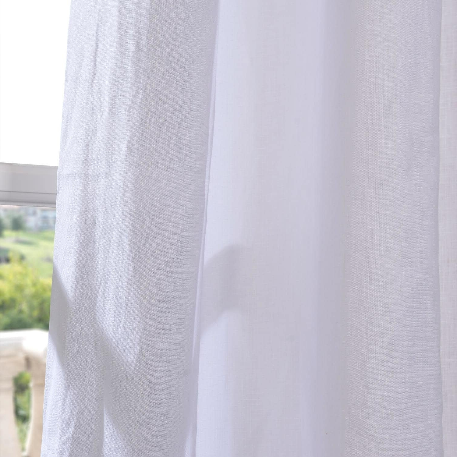 Newest Signature French Linen Curtain Panels Within Exclusive Fabrics Signature French Linen Curtain Panel (View 14 of 20)
