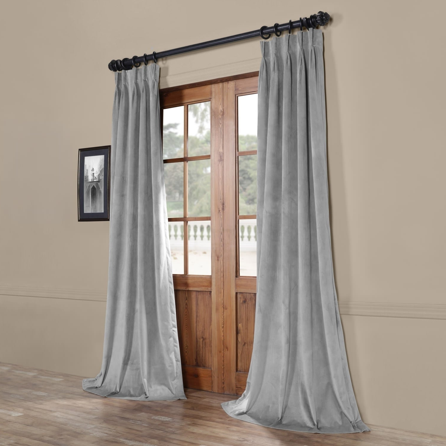 Newest Signature Pinch Pleated Blackout Solid Velvet Curtain Panels Regarding Exclusive Fabrics Signature Pinch Pleated Blackout Solid Velvet Curtain Panel (View 5 of 20)