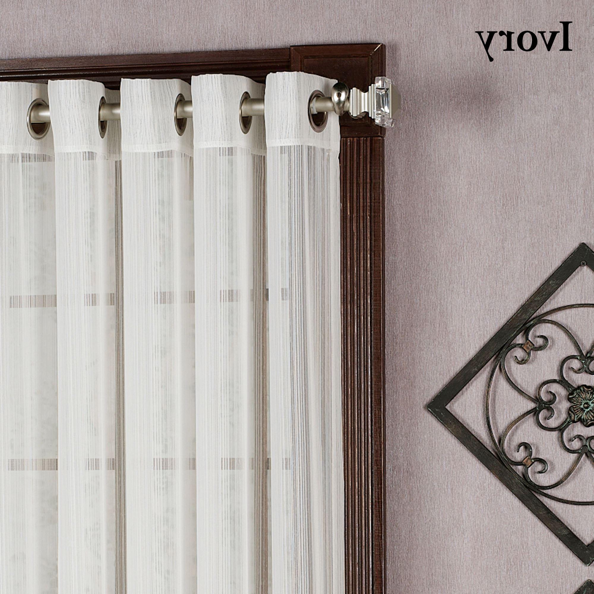 Newest Softline Trenton Grommet Top Curtain Panels Regarding Stripe Grommet Curtain Panels (View 13 of 20)