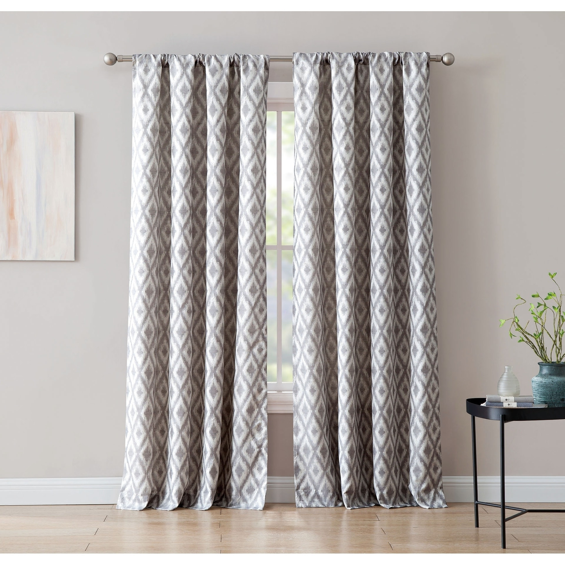 Newest Sunsmart Dahlia Paisley Printed Total Blackout Single Window Curtain Panels For Kalahari Jacquard 84 Inch Window Curtain With Rod Pocket (View 18 of 20)