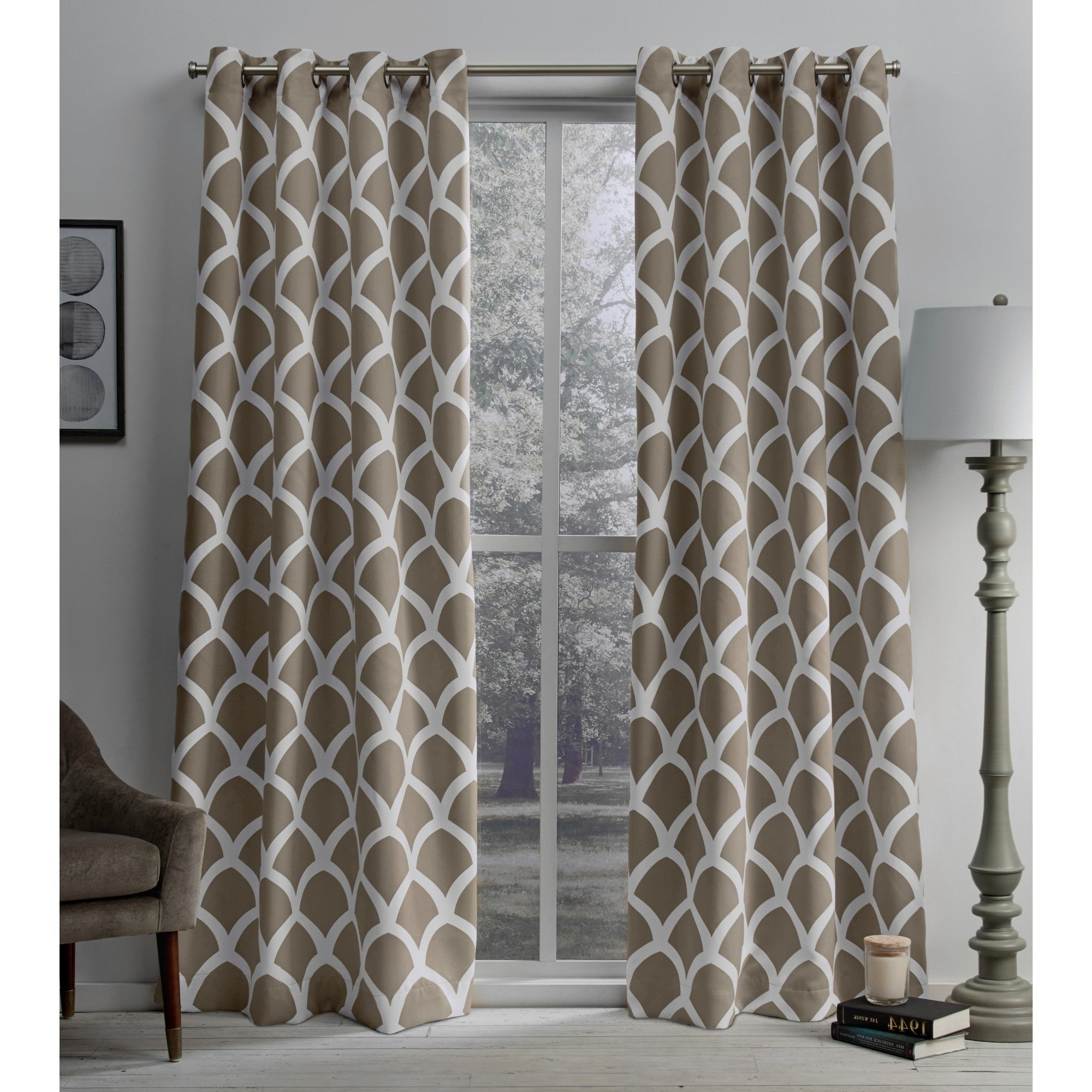 Newest The Curated Nomad Ames Sateen Woven Blackout Grommet Top Curtain Panel Pair Pertaining To The Curated Nomad Duane Jacquard Grommet Top Curtain Panel Pairs (View 6 of 21)