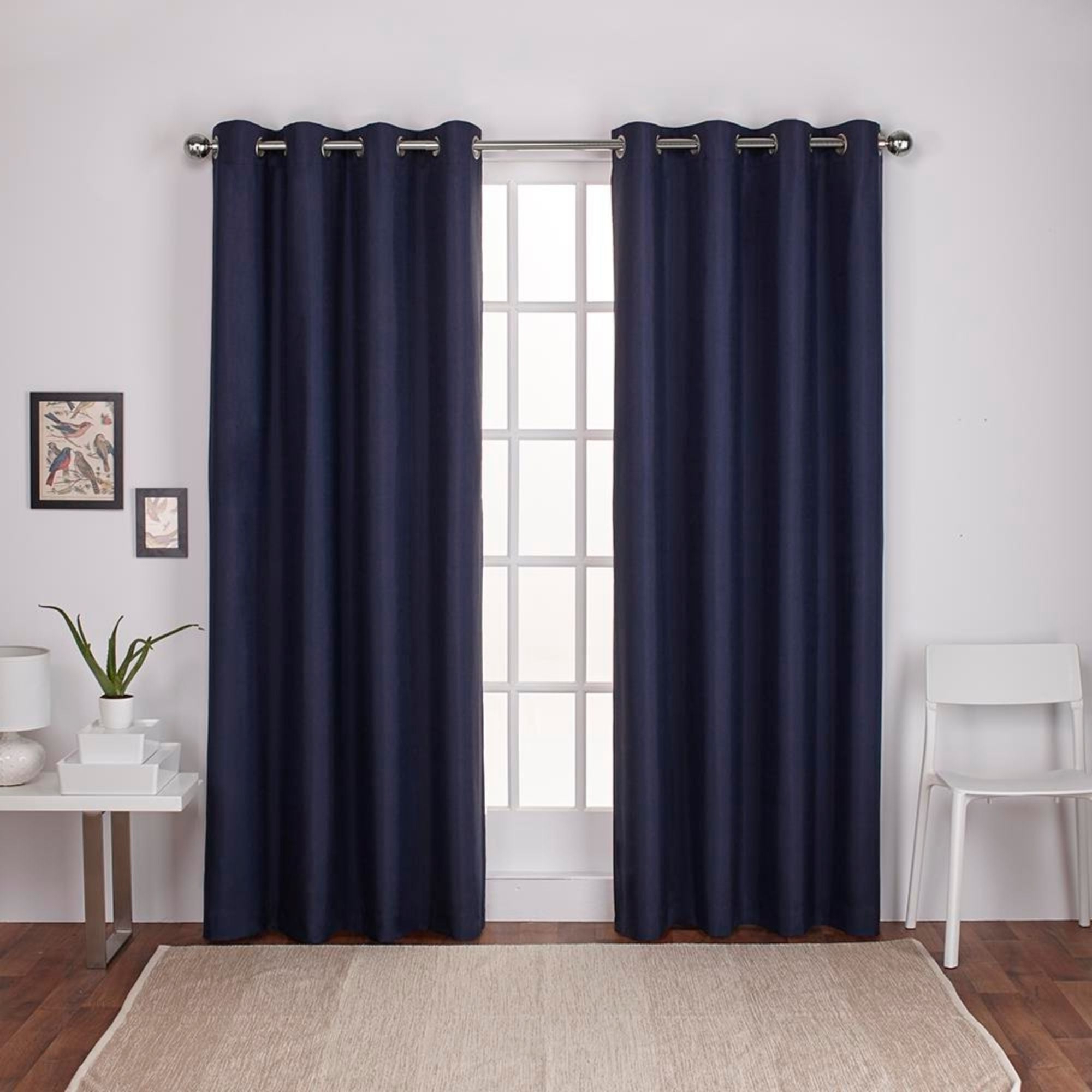 Newest Thermal Textured Linen Grommet Top Curtain Panel Pairs Regarding Shop Strick & Bolton Lewitt Thermal Textured Linen Grommet (View 11 of 20)