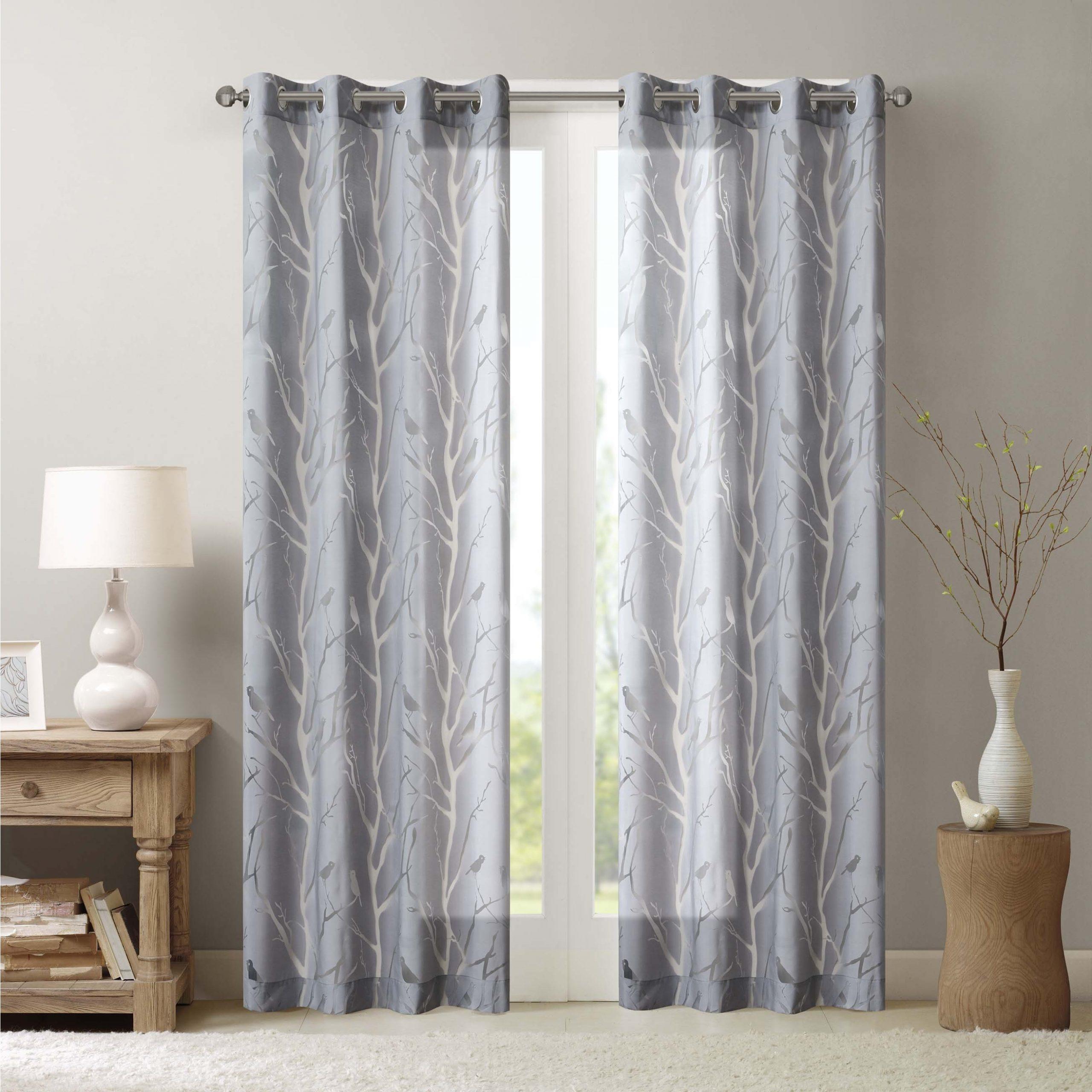 Newest Vina Sheer Bird Single Curtain Panels For Madison Park Vina Sheer Bird Single Curtain Panel (View 3 of 20)