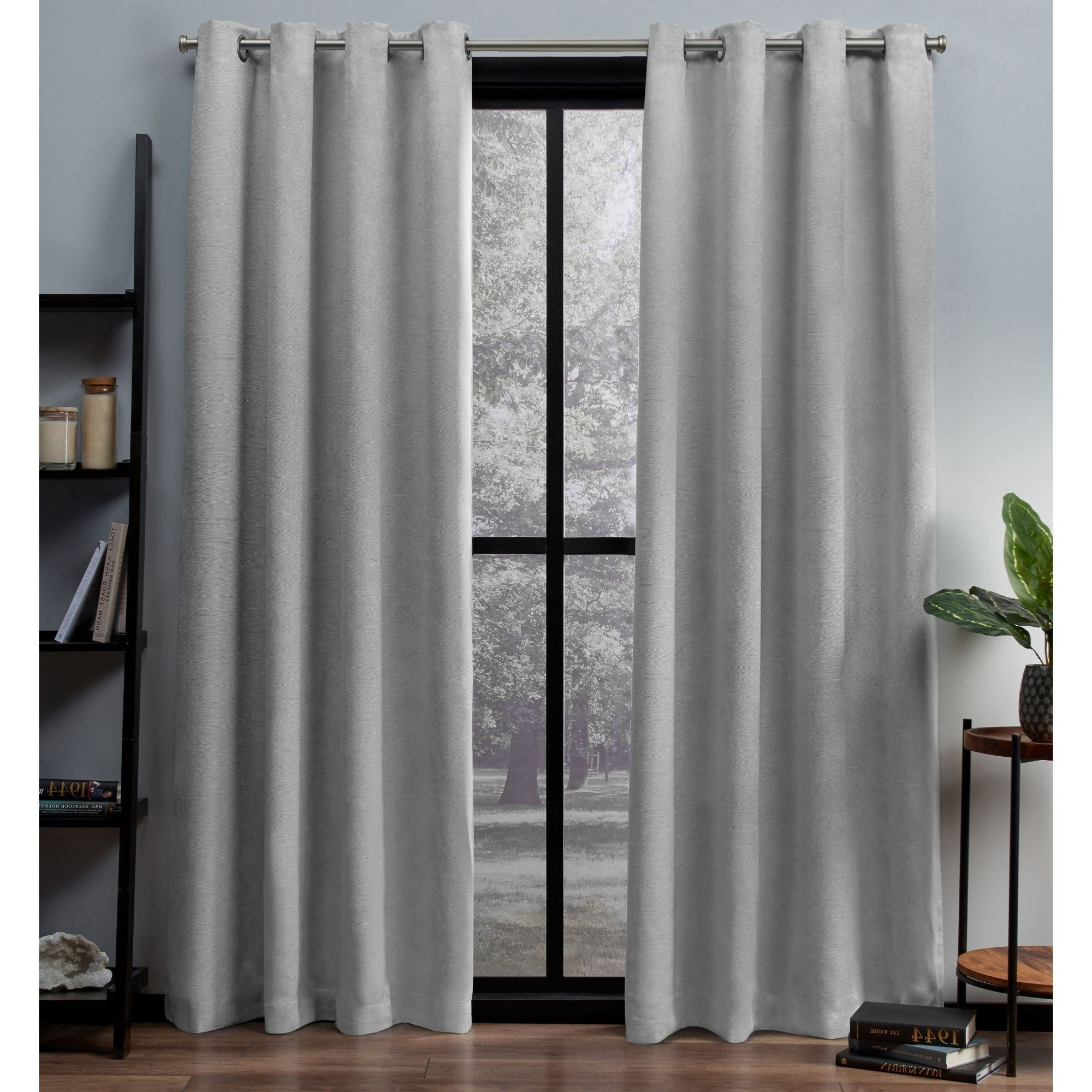 Newest Woven Blackout Grommet Top Curtain Panel Pairs With Ati Home Oxford Sateen Woven Blackout Grommet Top Curtain Panel Pair (View 15 of 20)