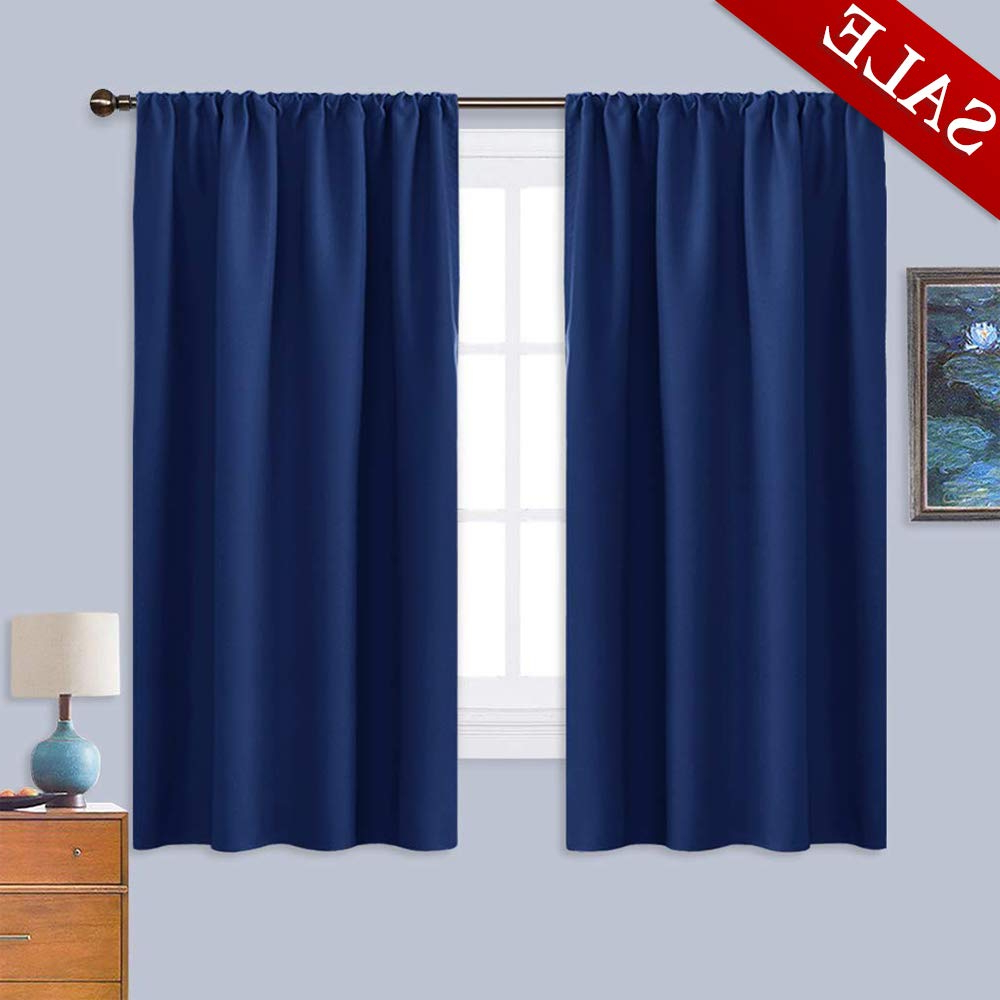 Nicetown Bedroom Curtains Blackout Draperies – All Season Thermal Insulated  Solid Rod Pocket Top Blackout Curtains/drapes For Kid's Room (Dark Blue, 1 Intended For Most Current All Seasons Blackout Window Curtains (View 19 of 20)