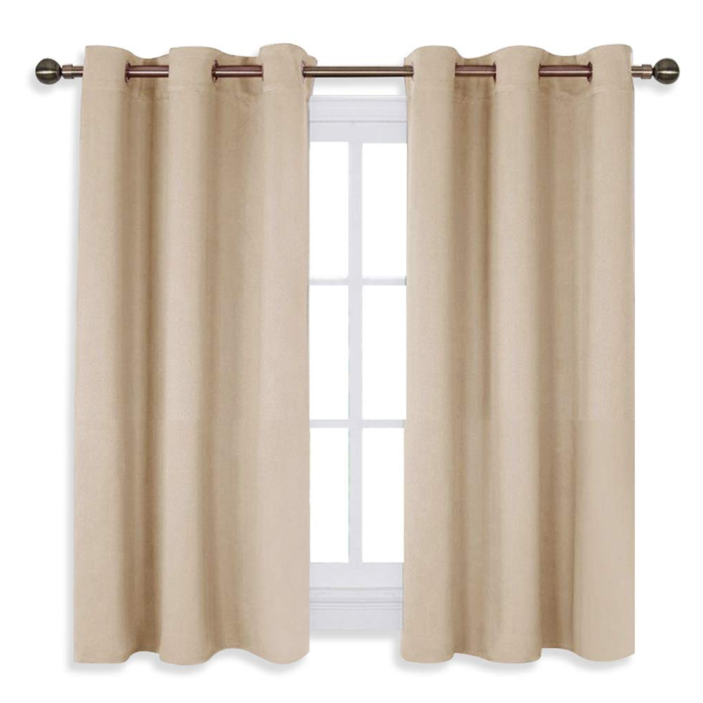 Nicetown Room Darkening Curtain Panels For Living Room, Thermal Insulated Grommet Room Darkening Draperies/drapes For Window (biscotti Beige, 2 Regarding Most Up To Date Grommet Room Darkening Curtain Panels (View 2 of 20)