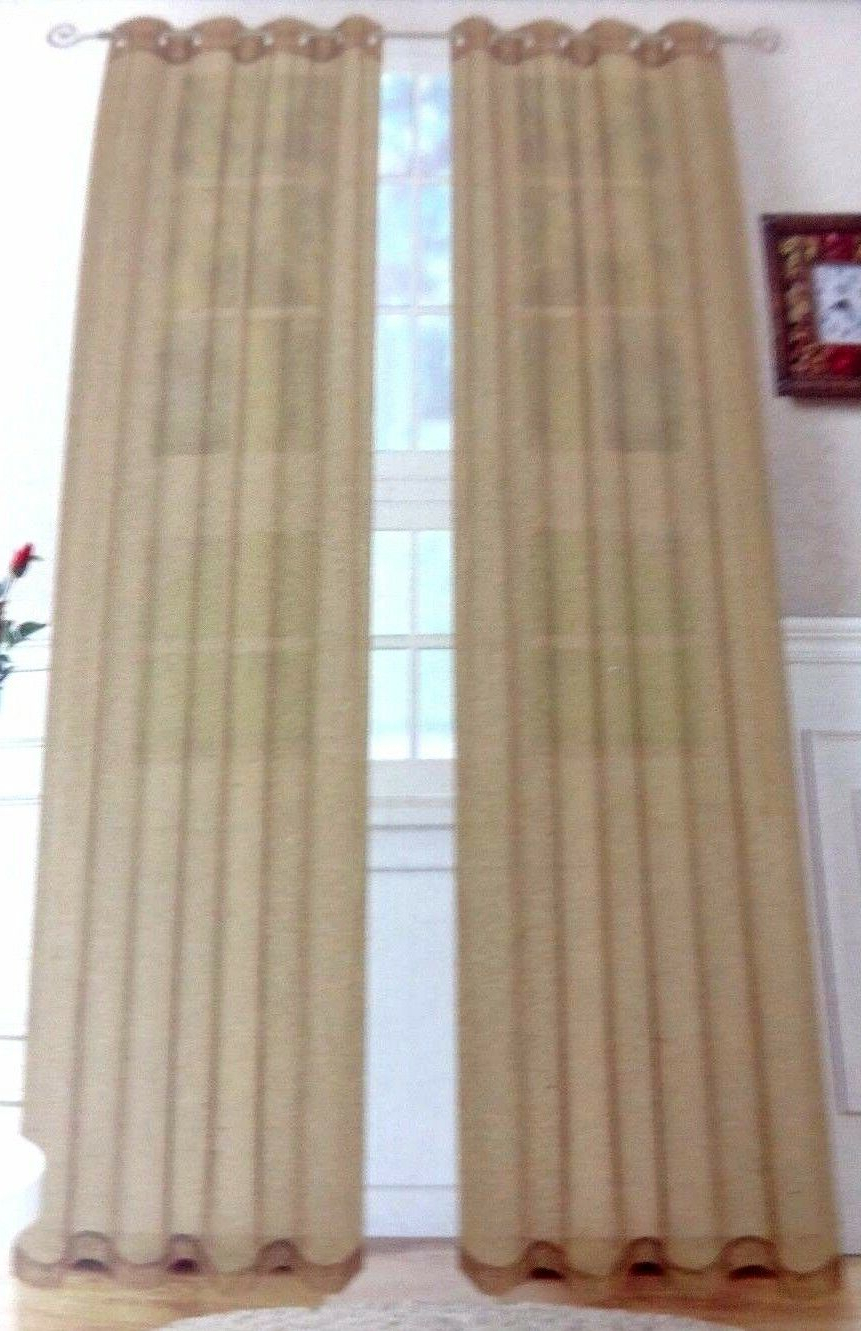 Nwt Victoria 2 Linen Textured Taupe Curtain Panels Grommet For 2020 Archaeo Slub Textured Linen Blend Grommet Top Curtains (View 18 of 20)