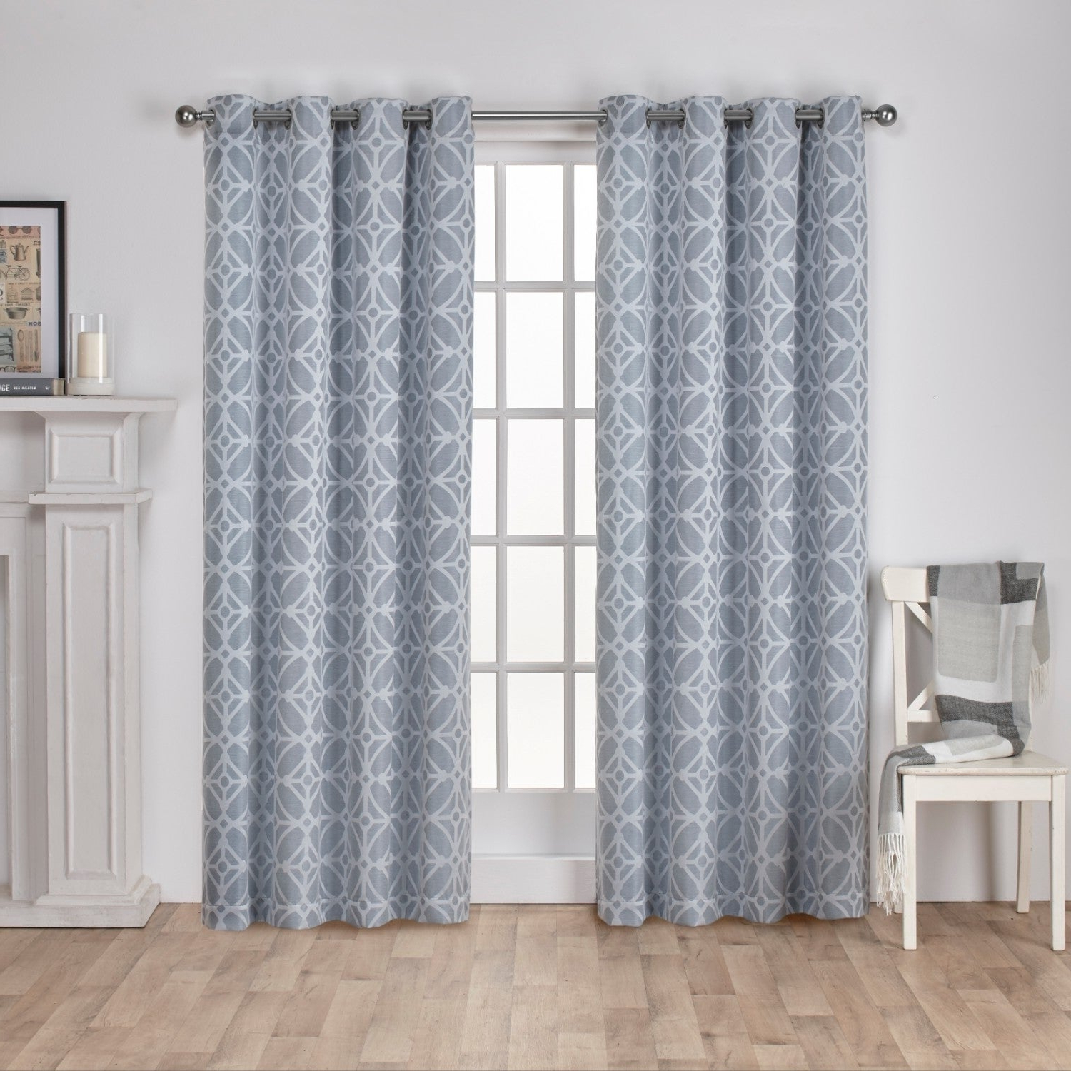 Oakdale Textured Linen Sheer Grommet Top Curtain Panel Pairs Pertaining To Best And Newest Details About Ati Home Cressy Jacquard Grommet Top Curtain Panel Pair (View 13 of 20)