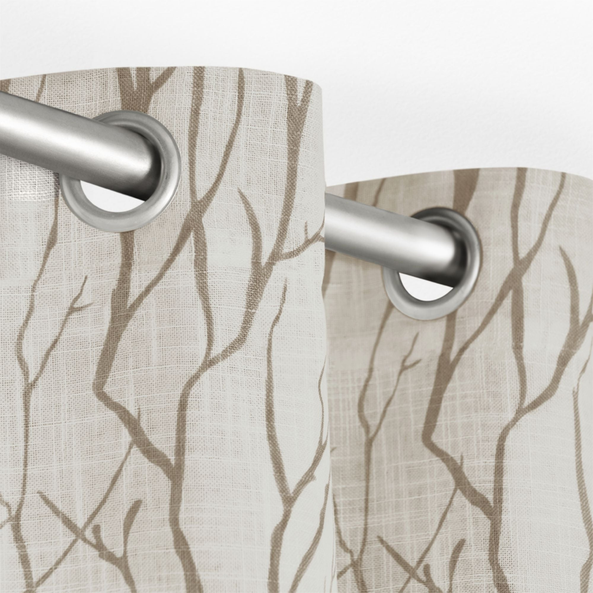 Oakdale Textured Linen Sheer Grommet Top Curtain Panel Pairs With Best And Newest Shop Ati Home Oakdale Textured Linen Sheer Grommet Top (View 15 of 20)