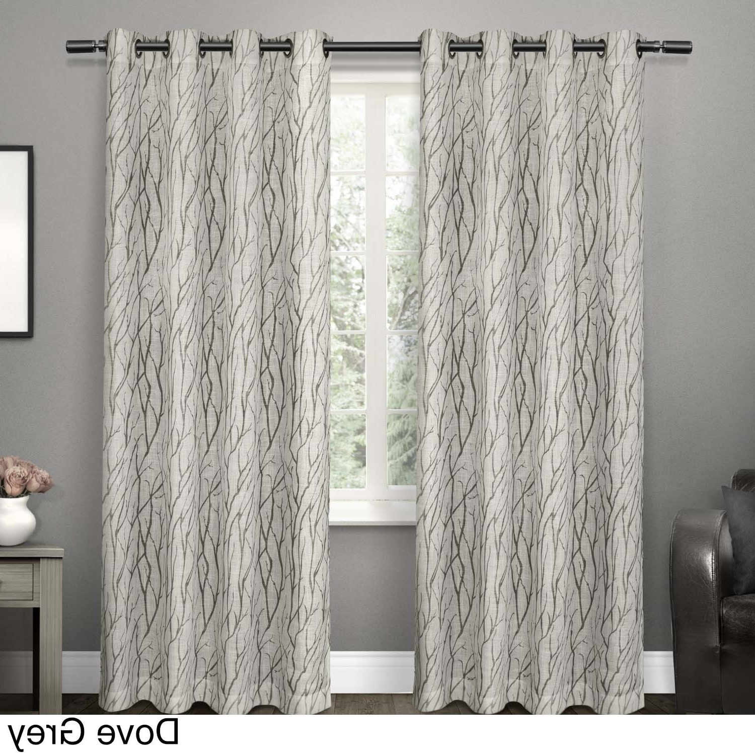 Oakdale Textured Linen Sheer Grommet Top Curtain Panel Pairs Within Well Known Shop Ati Home Oakdale Textured Linen Sheer Grommet Top (View 16 of 20)