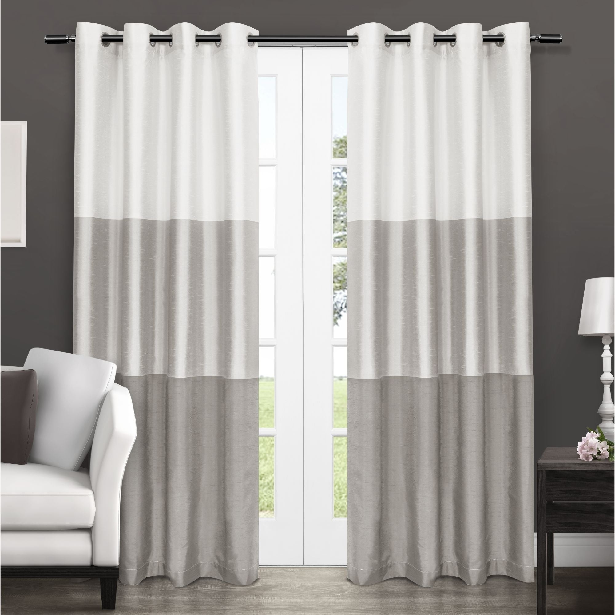 Ocean Striped Window Curtain Panel Pairs With Grommet Top Throughout Well Known Porch & Den Ocean Striped Window Curtain Panel Pair With Grommet Top (View 4 of 20)