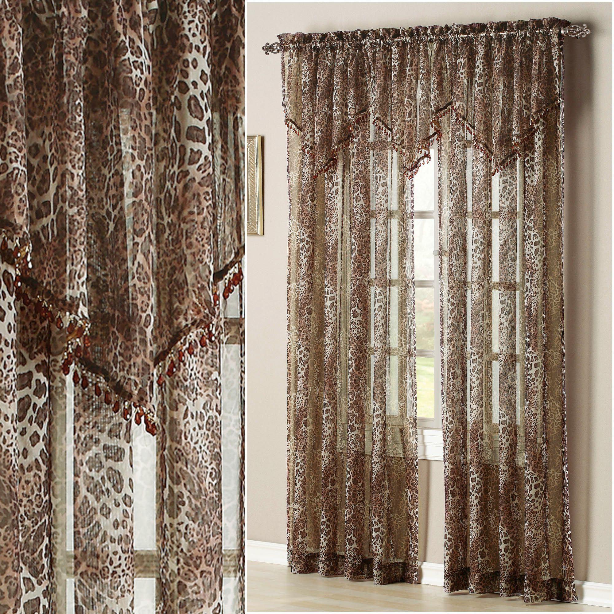 Ocelot Safari Window Treatment Regarding Most Current Inez Patio Door Window Curtain Panels (View 14 of 20)