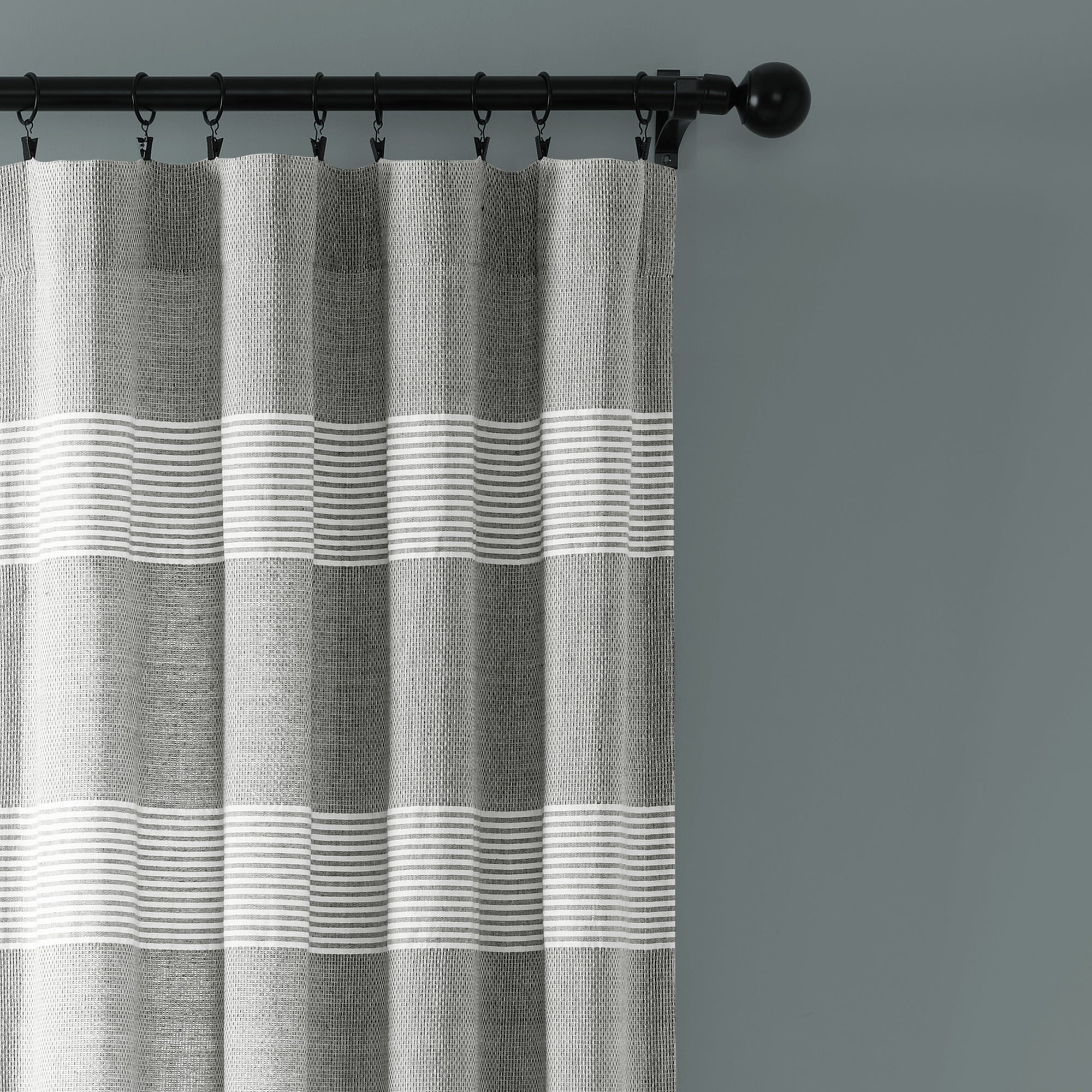 Ombre Stripe Yarn Dyed Cotton Window Curtain Panel Pairs With Regard To Most Current Lush Decor Tucker Stripe Yarn Dyed Cotton Knotted Tassel Window Curtain  Panel Pair (View 17 of 20)