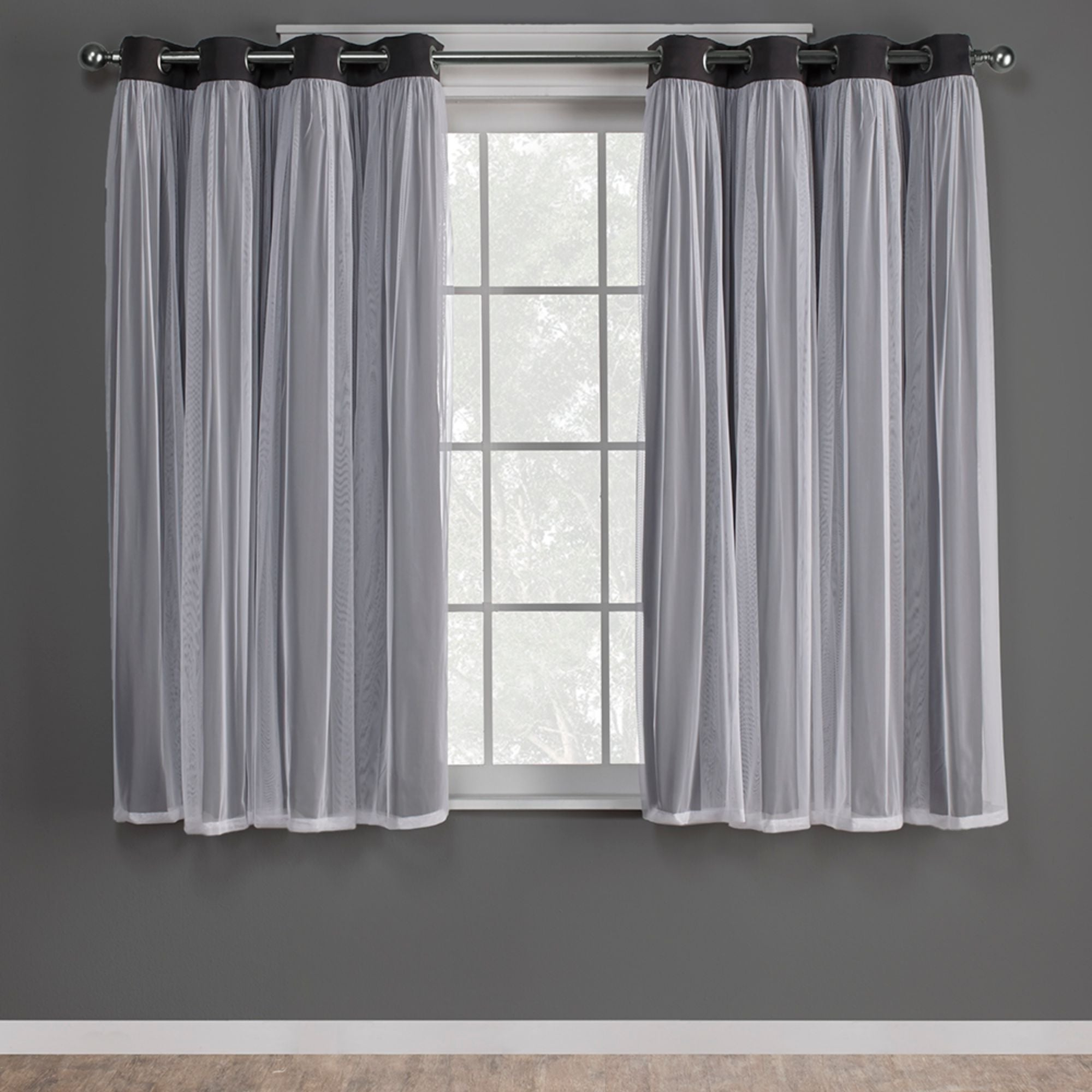 Overstock Shopping – The Best Deals On As Is Inside Catarina Layered Curtain Panel Pairs With Grommet Top (View 4 of 20)