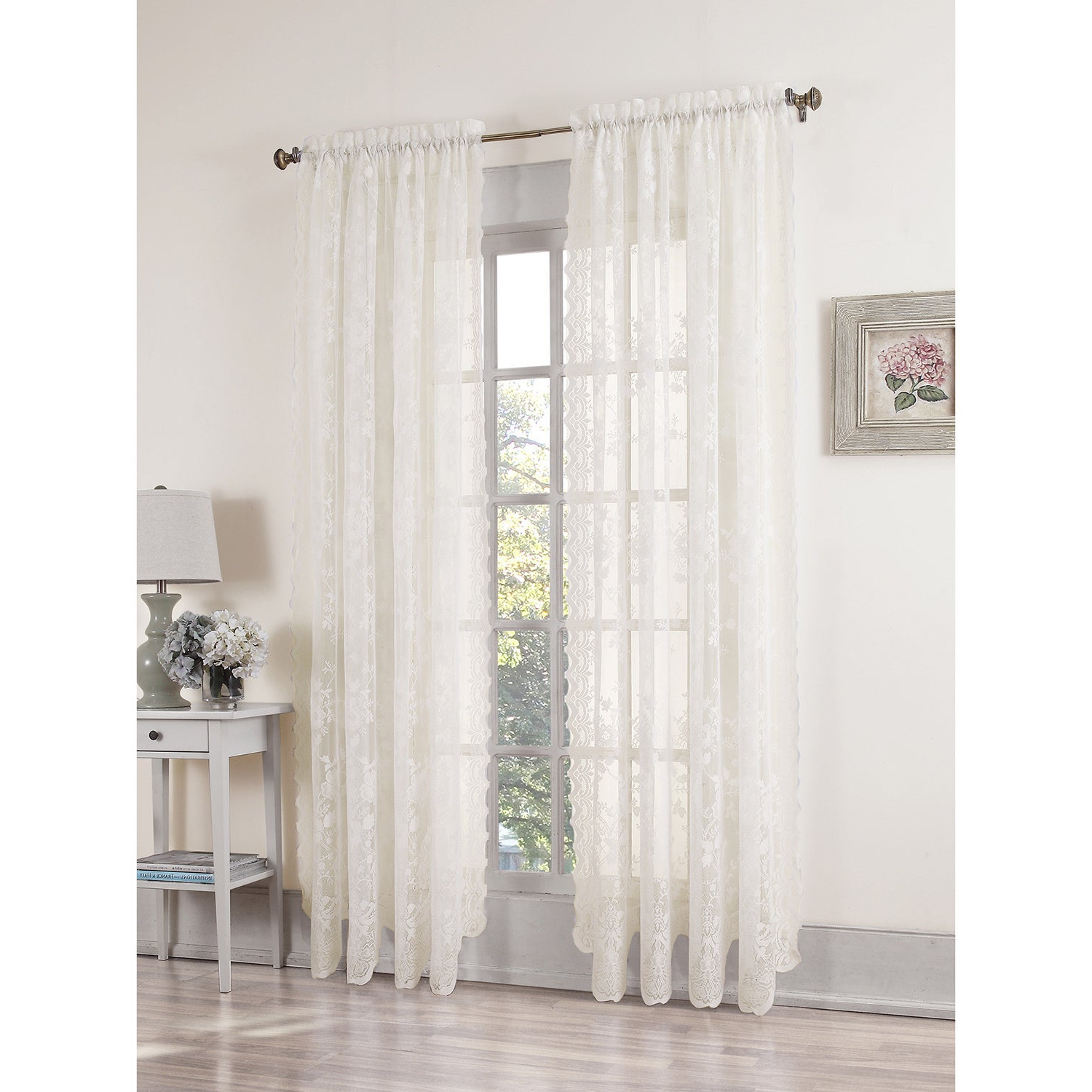 Overstock Shopping – The Best Deals On Curtains For Well Liked Alison Rod Pocket Lace Window Curtain Panels (View 2 of 20)