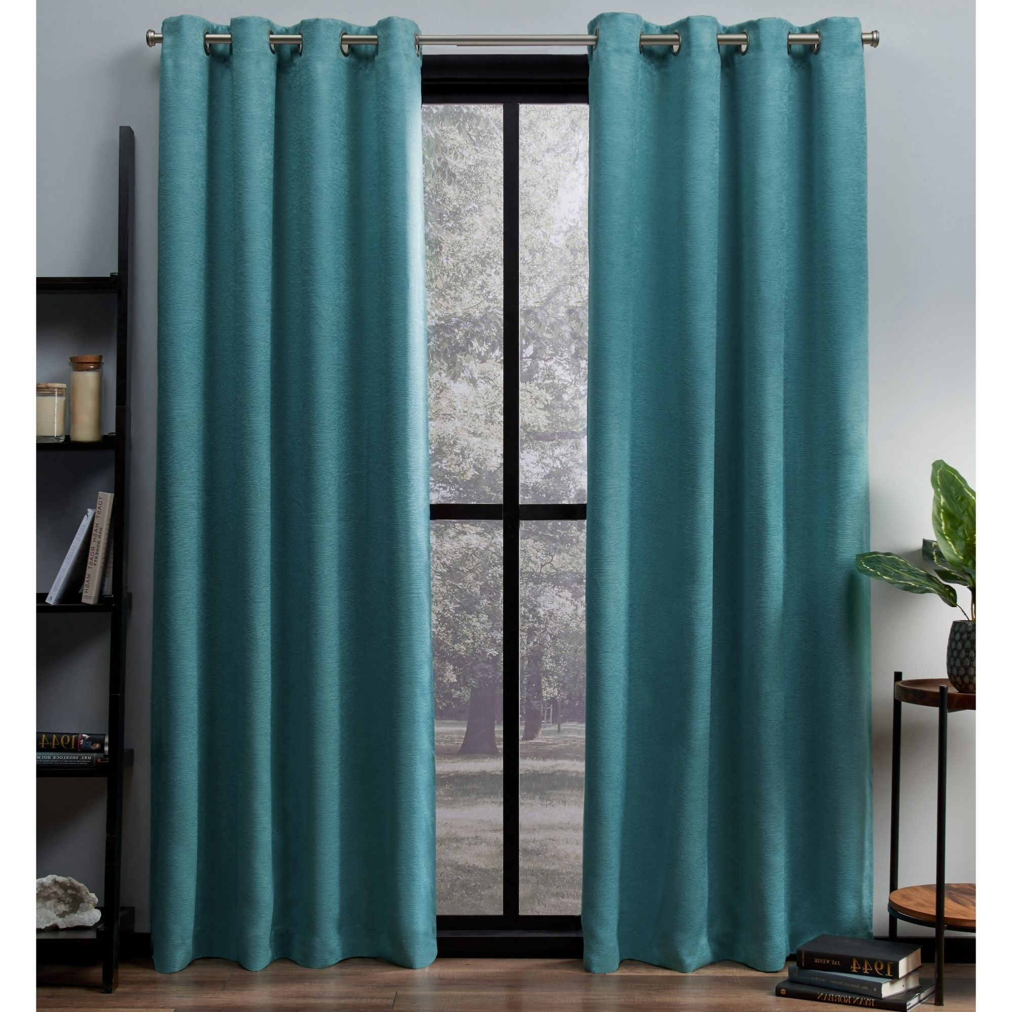 Oxford Sateen Woven Blackout Grommet Top Curtain Panel Pairs For Preferred Ati Home Oxford Sateen Woven Blackout Grommet Top Curtain Panel Pair (View 11 of 20)