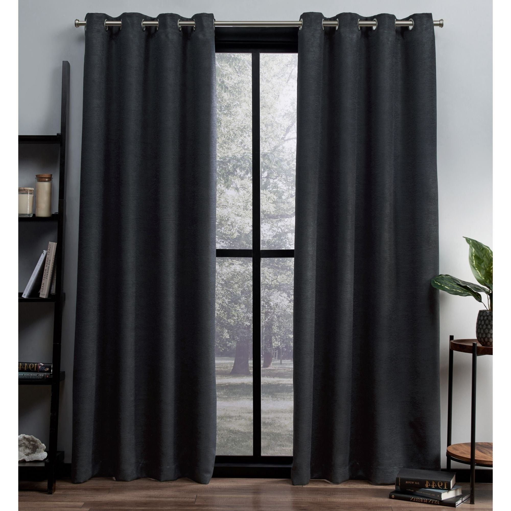 Oxford Sateen Woven Blackout Grommet Top Curtain Panel Pairs Pertaining To 2021 Ati Home Oxford Sateen Woven Blackout Grommet Top Curtain Panel Pair (View 12 of 20)