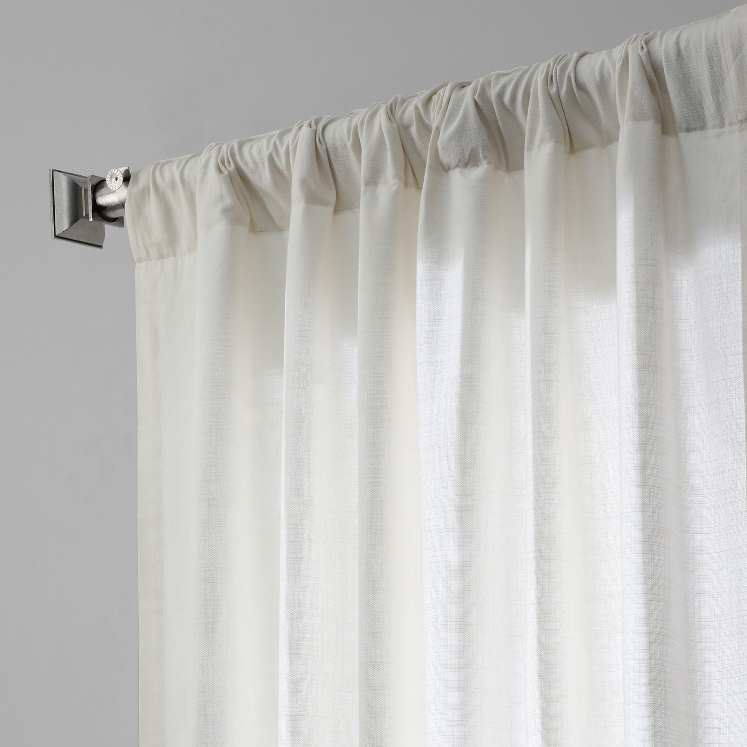 Pacific Pearl Country Cotton Linen Weave Curtain Intended For Popular Solid Country Cotton Linen Weave Curtain Panels (View 19 of 20)