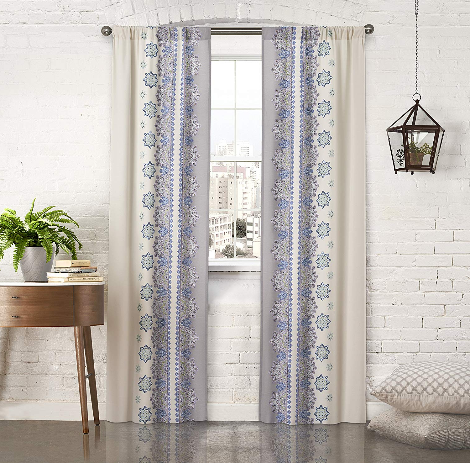 """Pairs To Go Curtains For Bedroom – Mantra 56"""" X 84"""" Decorative Double Panel  Rod Pocket Window Treatment Privacy Curtain Pair For Living Room, Blue For Preferred Curtain Panel Pairs (View 14 of 20)"""