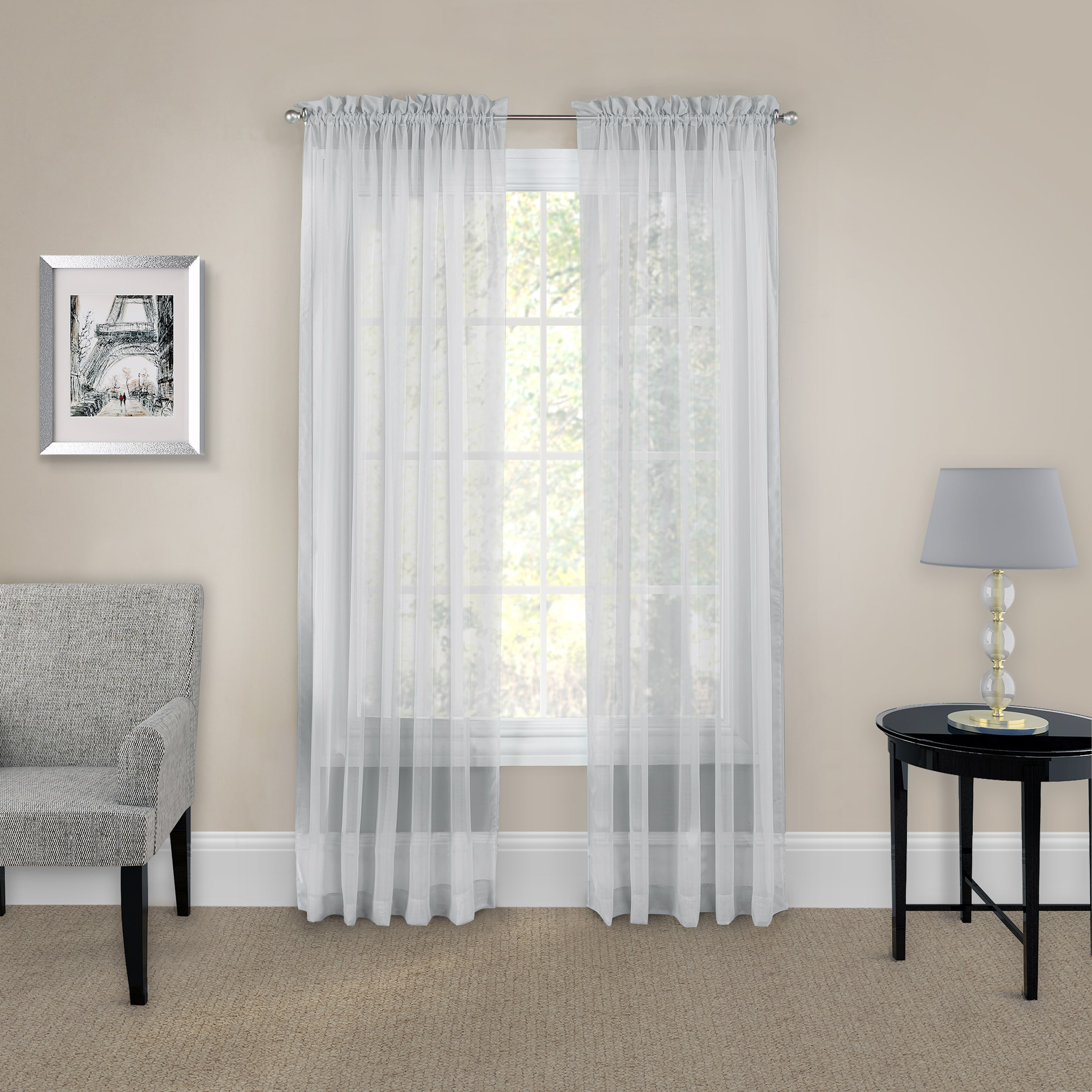 Featured Photo of Pairs To Go Victoria Voile Curtain Panel Pairs
