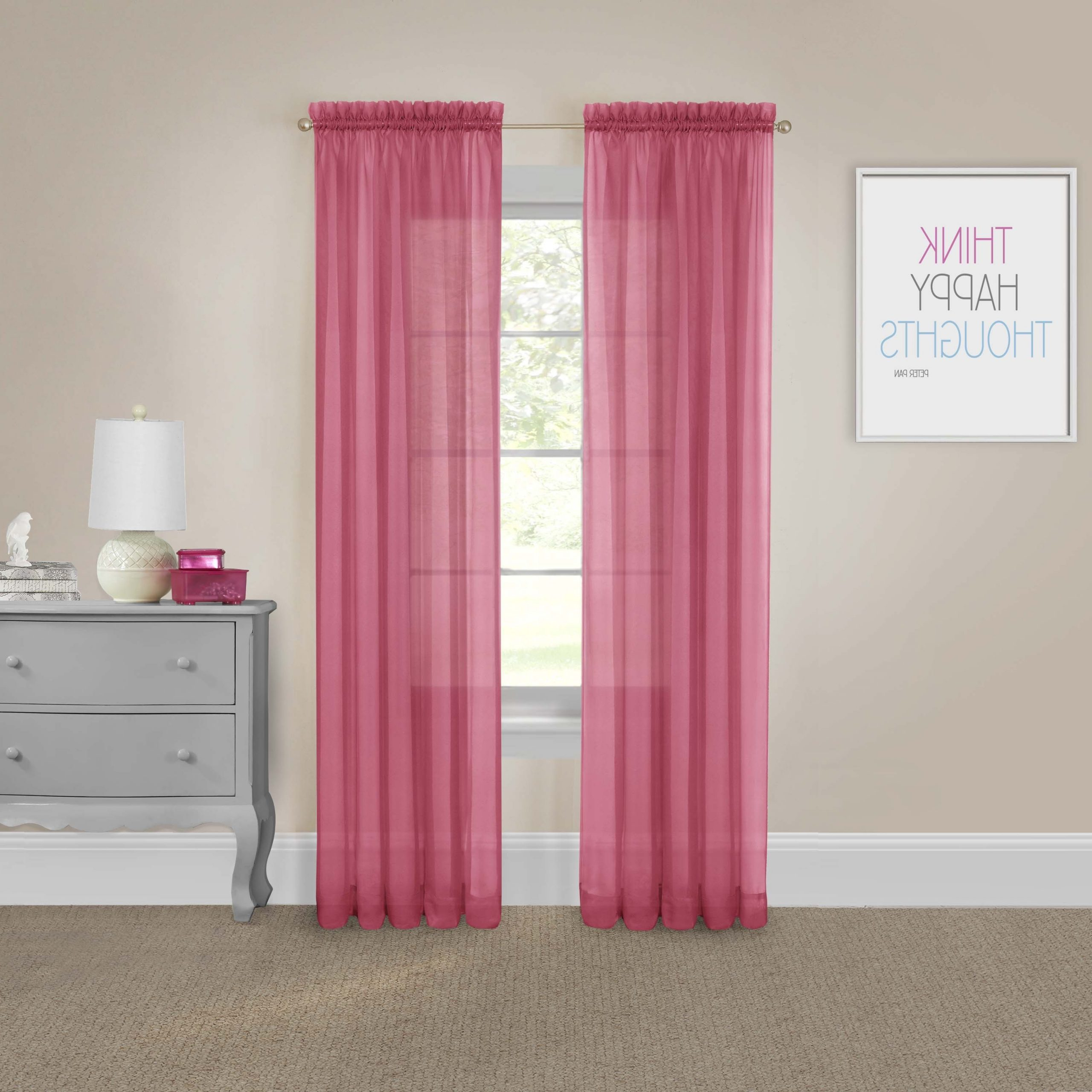 Pairs To Go Victoria Voile Curtain Panel Pair Within Best And Newest Pairs To Go Victoria Voile Curtain Panel Pairs (View 2 of 20)