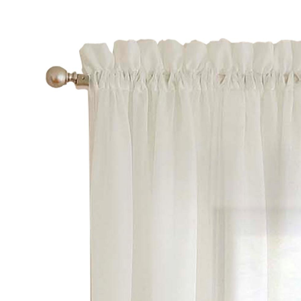Pairs To Go Victoria Voile Curtain Panel Pairs In Popular Pairs To Go Victoria Voile Window Curtain Panel Pair In Taupe – 118 In. W X 63 In (View 10 of 20)