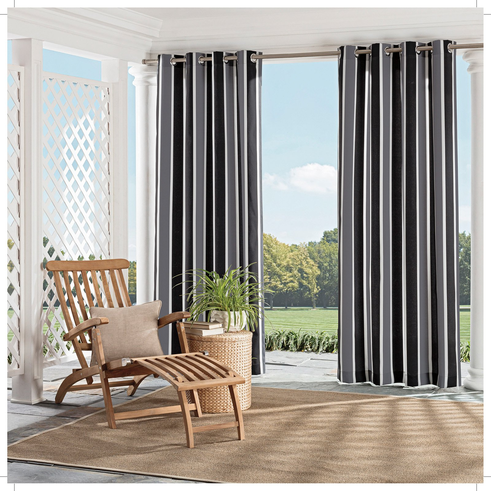 Parasol Coco Bay Indoor/outdoor Curtains In (View 10 of 20)