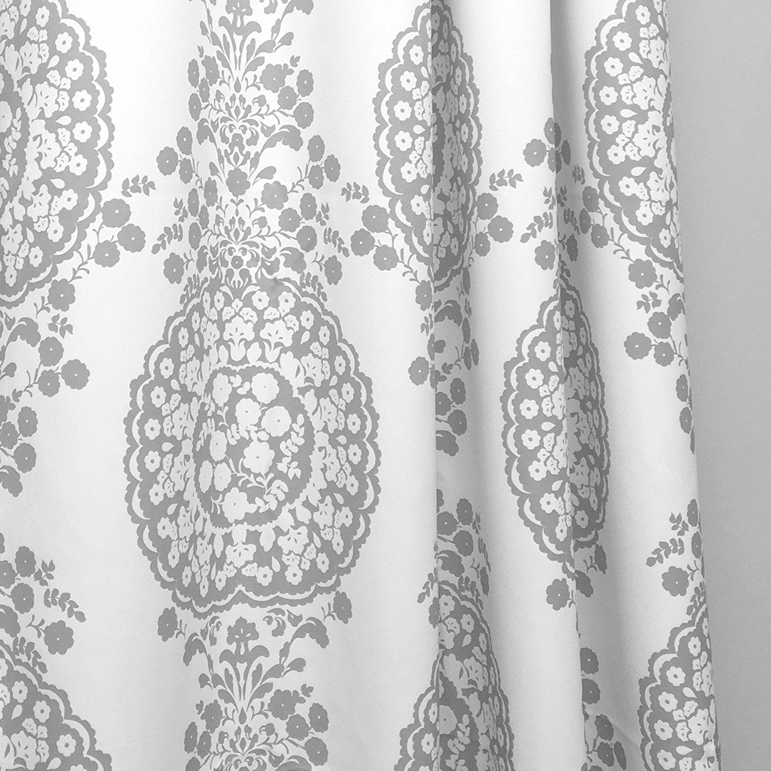 Pastel Damask Printed Room Darkening Grommet Window Curtain Panel Pairs With Well Known Driftaway Samantha Pastel Damask Printed Room Darkening Grommet Window Curtain Panel Pair (View 4 of 20)