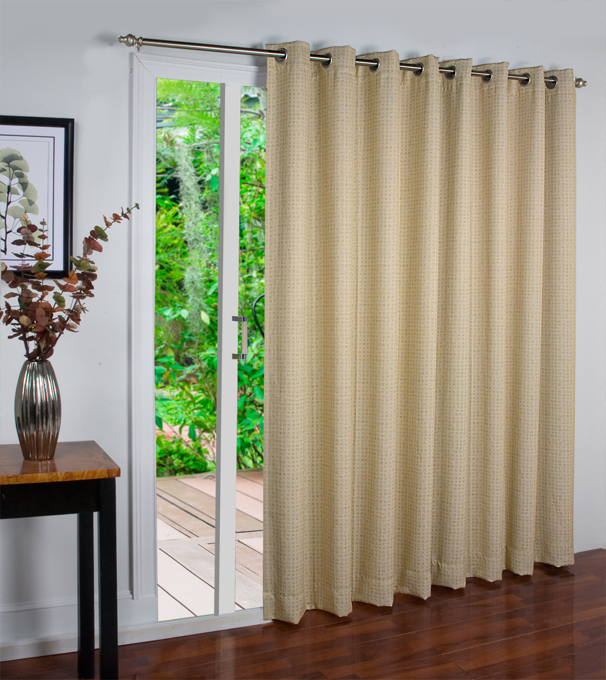 Patio Grommet Top Single Curtain Panels Throughout Most Up To Date Patio Door Curtains – Thecurtainshop (View 7 of 20)