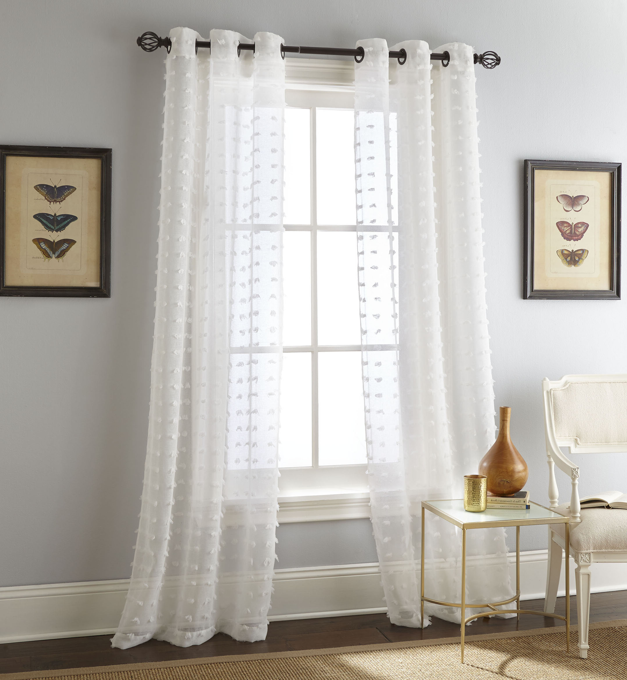 Payton Solid Color Semi Sheer Grommet Curtain Panels With Best And Newest Ella Window Curtain Panels (View 18 of 20)