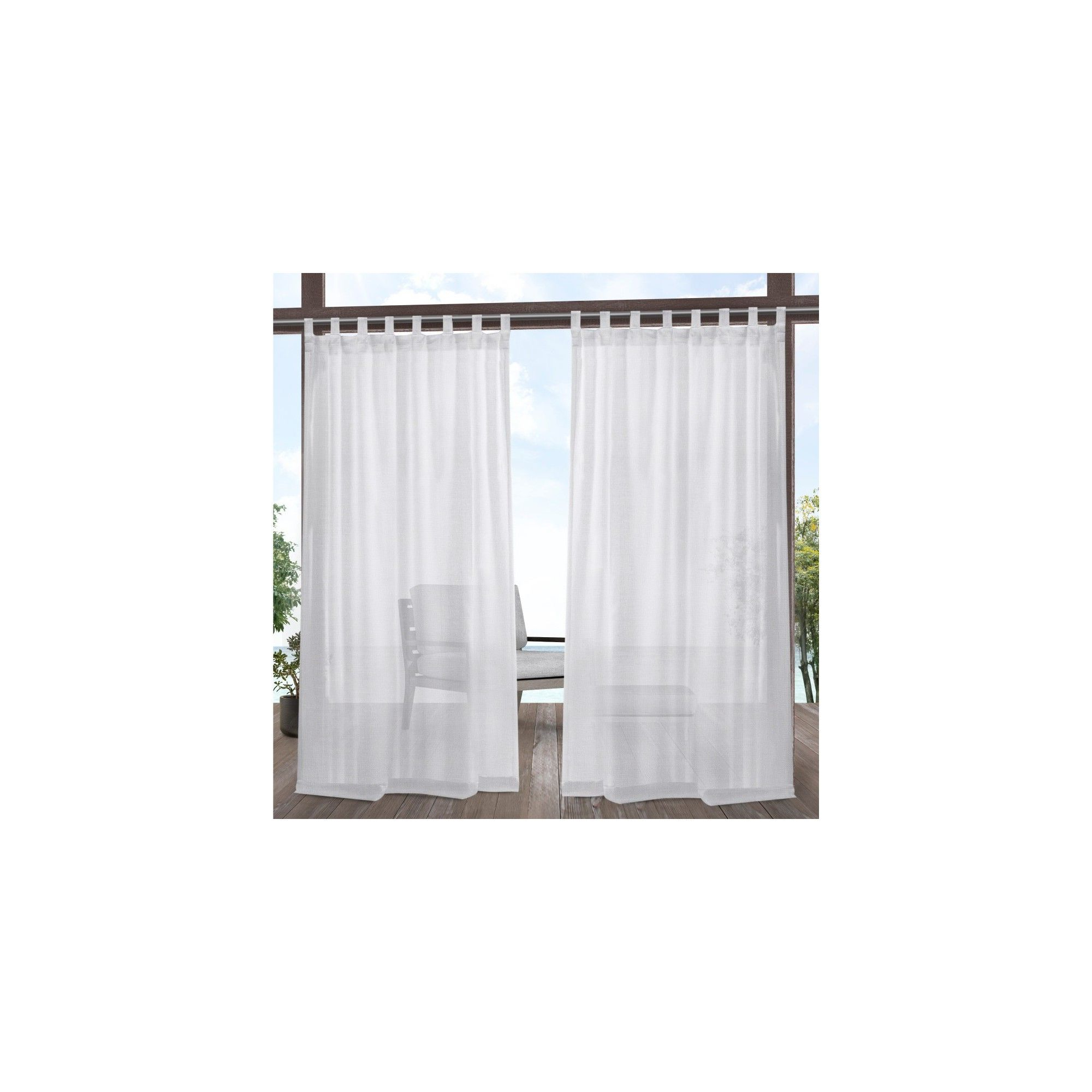 "Penny Sheer Grommet Top Curtain Panel Pairs For Well Known 54""x96"" Miami Indoor/outdoor Tab Top Window Curtain Panel (View 14 of 20)"