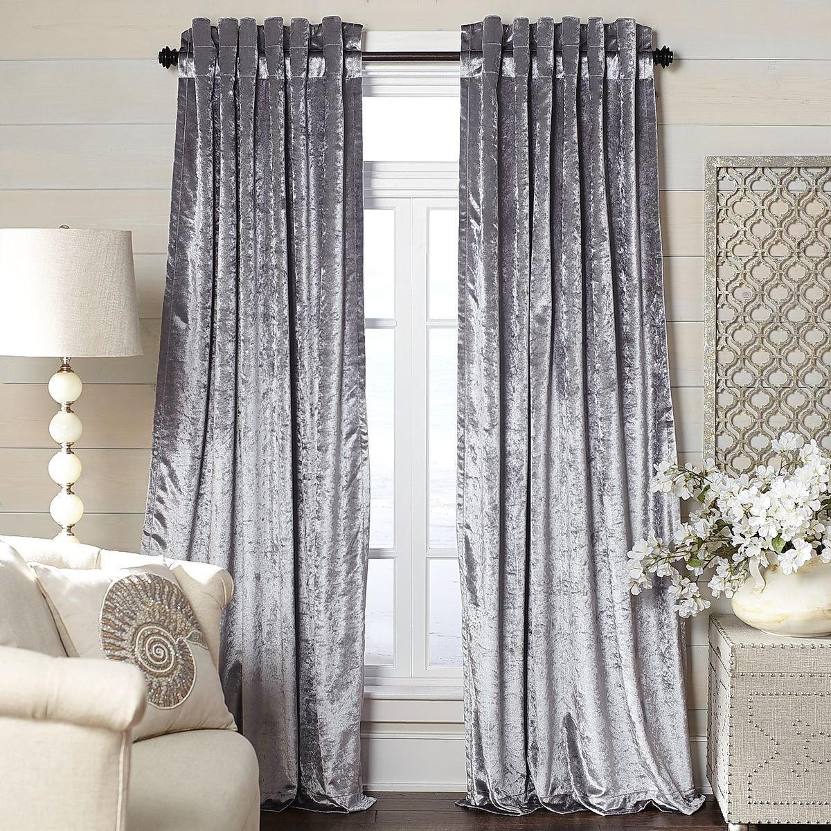 Pier 1 Imports Throughout Velvet Dream Silver Curtain Panel Pairs (View 3 of 20)