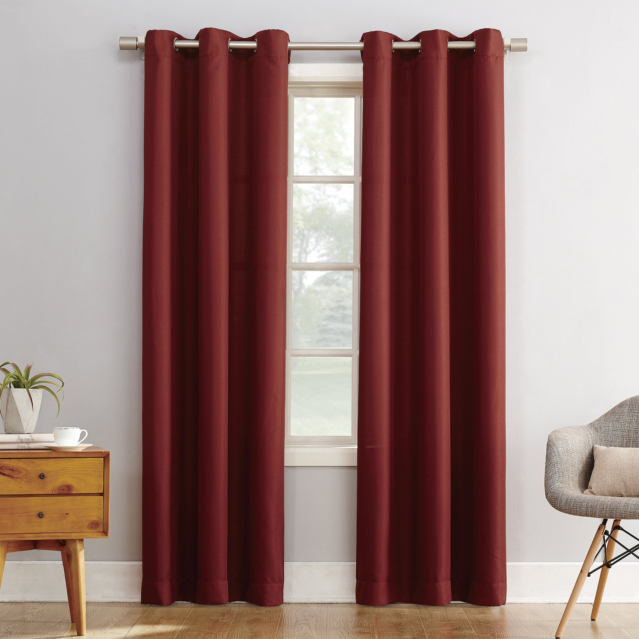 Popular Copper Grove Speedwell Grommet Window Curtain Panels For Shop Copper Grove Speedwell Grommet Window Curtain Panel (View 15 of 20)