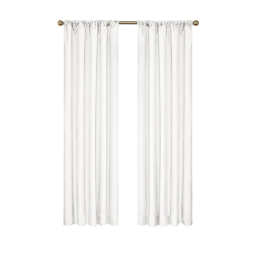 Popular Eclipse Kendall Blackout Window Curtain Panel In White – 42 In. W X 54 In (View 11 of 20)
