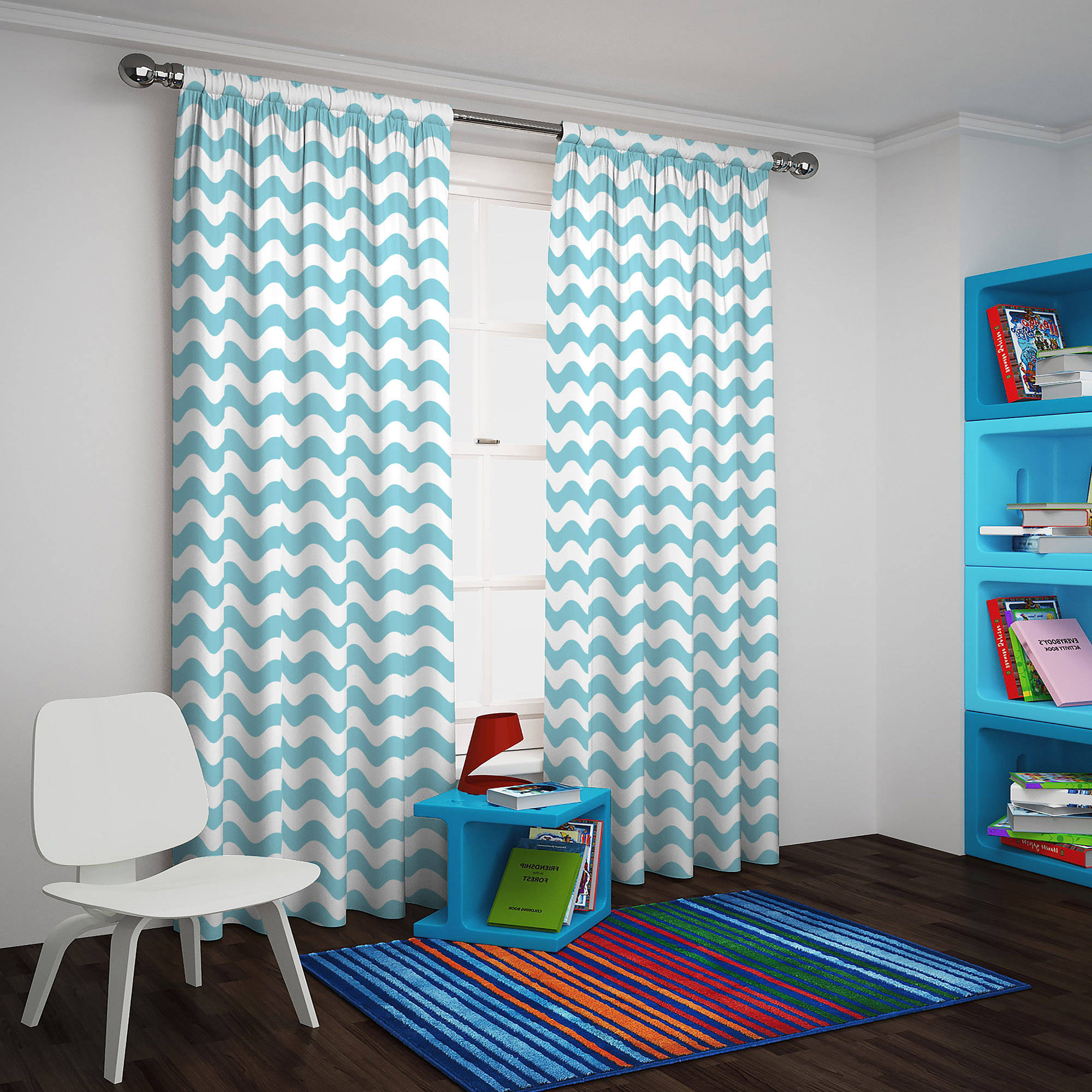 Popular Eclipse Thermaback Blackout Wavy Chevron Curtain Panel Pertaining To Chevron Blackout Grommet Curtain Panels (View 19 of 20)