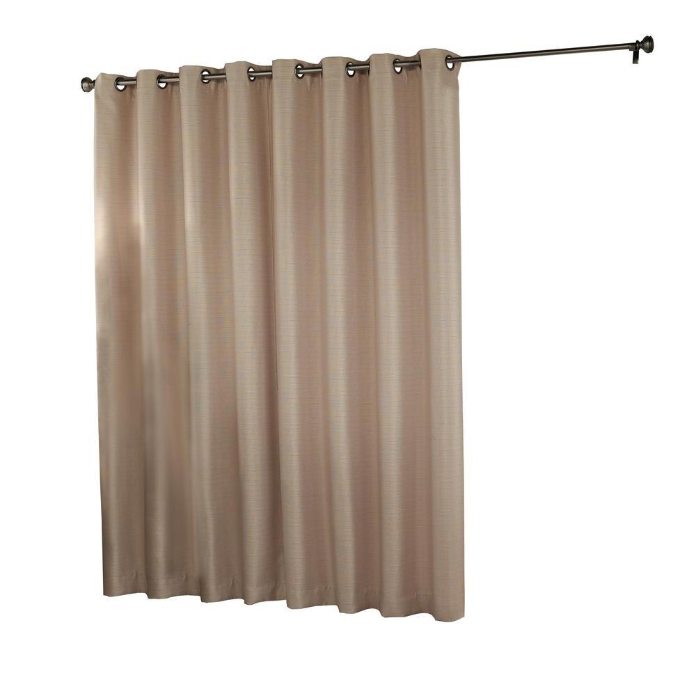Popular Grommet Blackout Patio Door Window Curtain Panels Regarding Eclipse Bryson Blackout Patio Door Window Panel In Wheat – 100 In. W X 84 In (View 15 of 20)