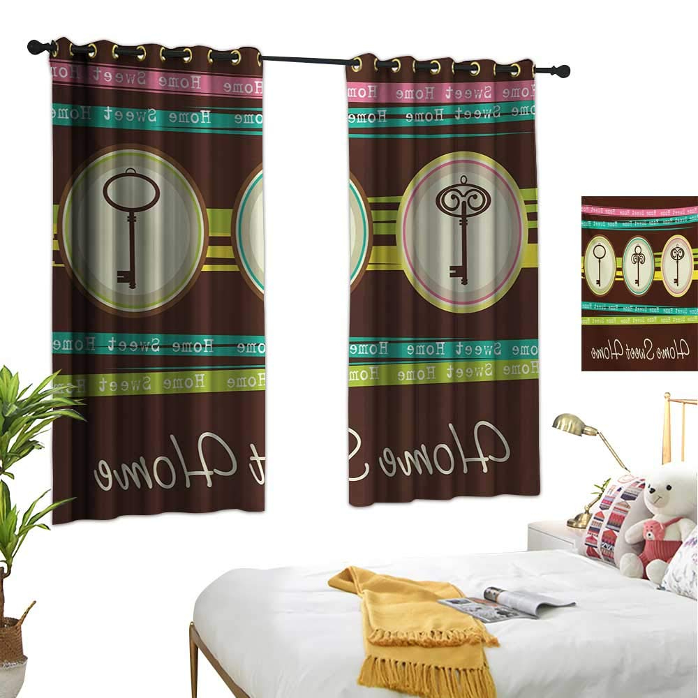 Popular Keyes Blackout Single Curtain Panels Inside Amazon: Martindecor Home Sweet Home Thermal Insulating (View 19 of 20)